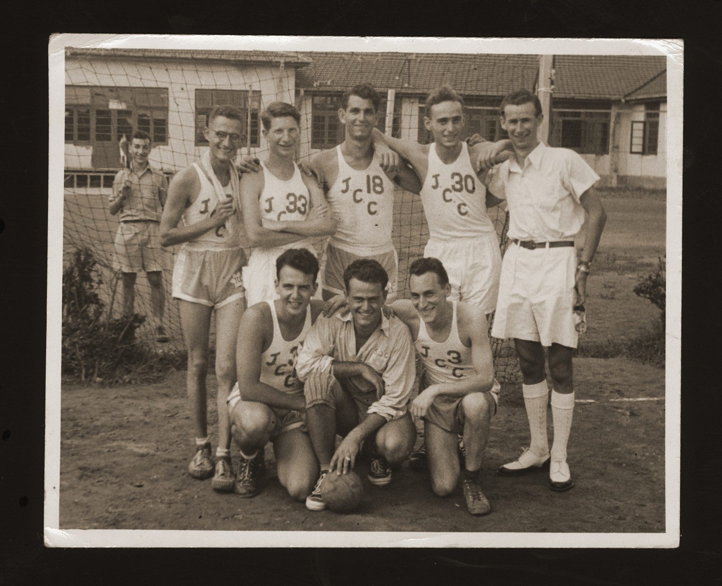 Group portrait of a Jewish sports team in Shanghai.