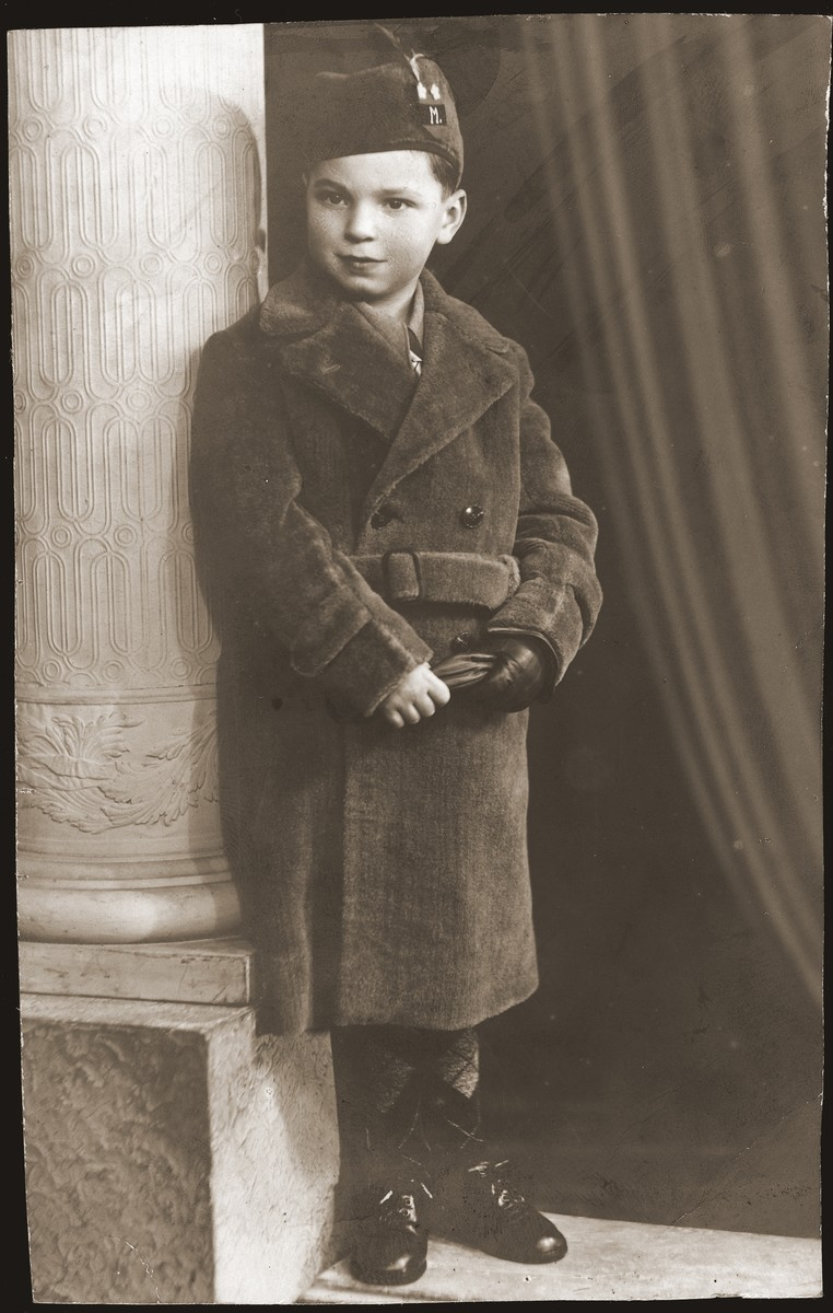 Portrait of Maurice Szykman, donor's nephew.  He survived the war in hiding.
