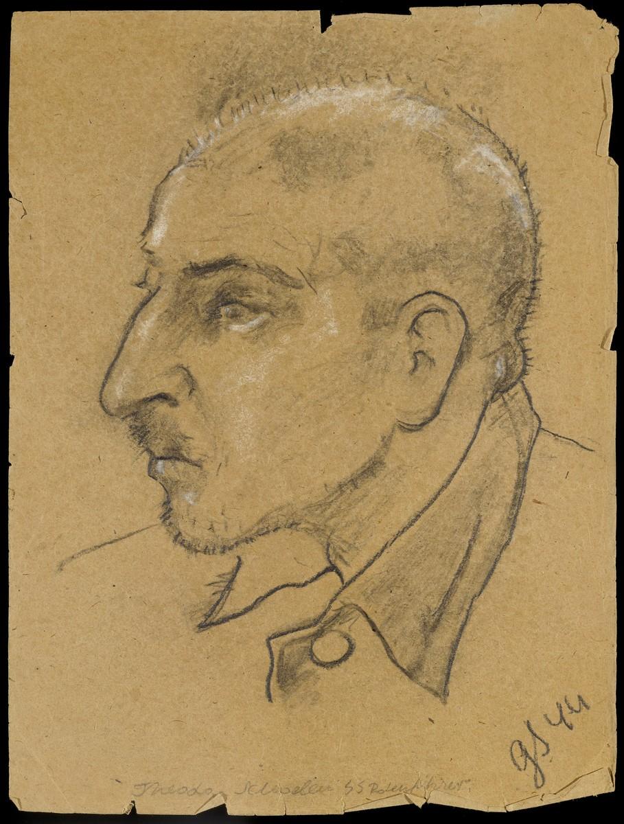Sketch of Herman Vogel by Gabriel Sedlis.