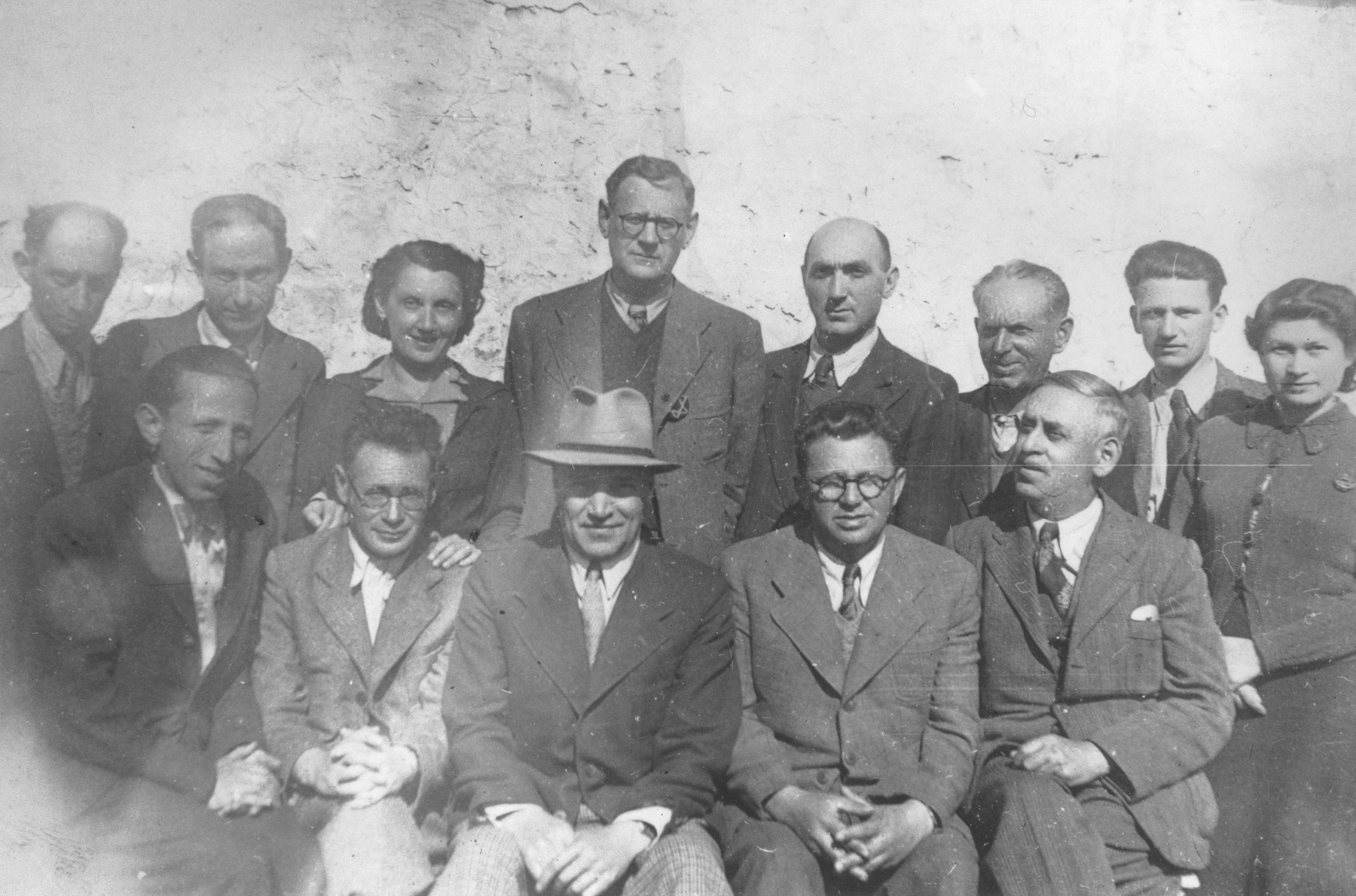 Group portrait of members of the Jewish administration at the Turnatoria, the machine shop established by Siegfried Jagendorf in the Mogilev-Podolskiy foundry.  Those pictured include Max Heissman, Jonas Kessler, Siegfried Jagendorf, Pinkas Katz, F. Stern, Resh, B. David Langberg, S. Gutmann, and Klinger.