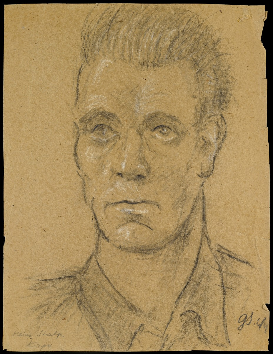 Sketch of Heinz Stalp by Gabriel Sedlis.