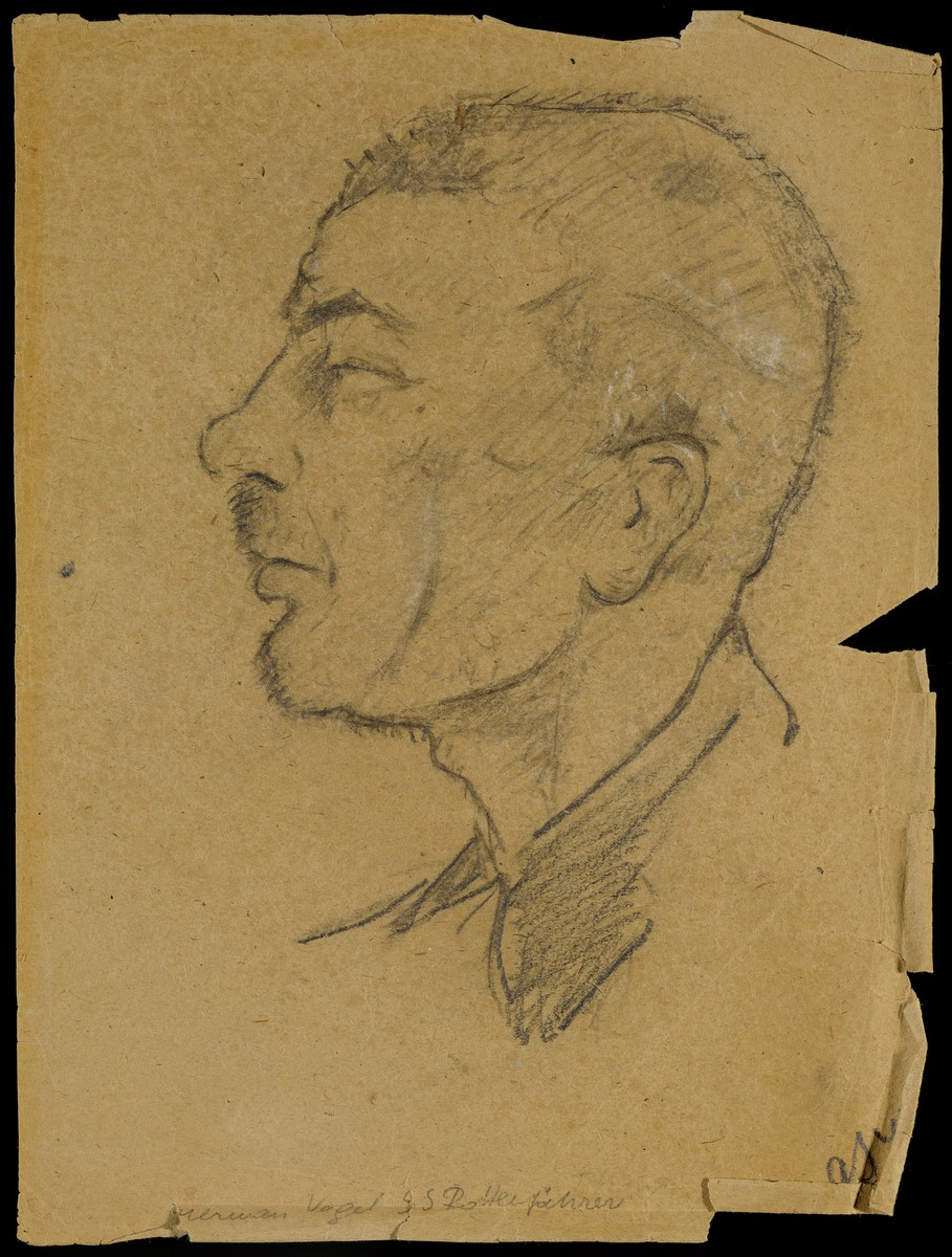 Sketch of Theodor Schellen by Gabriel Sedlis.
