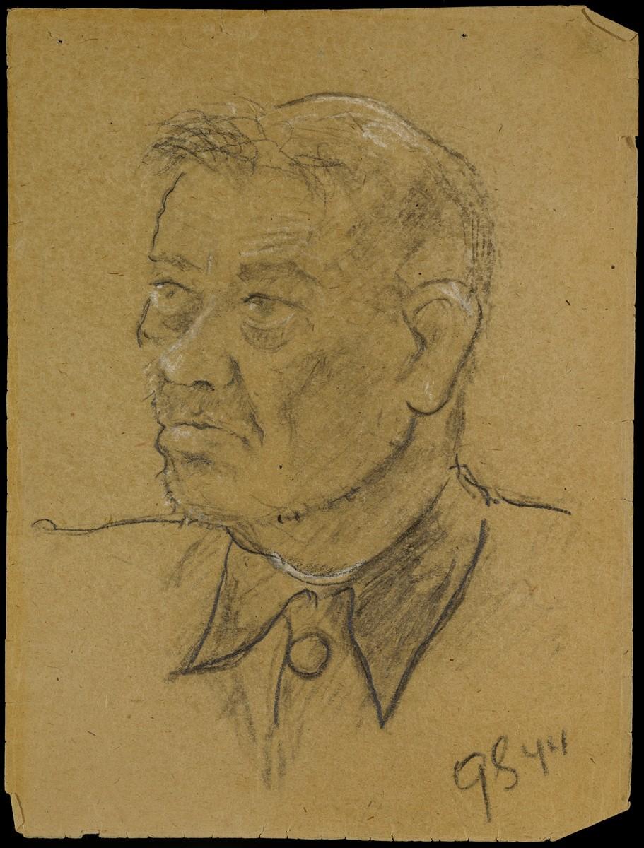 Sketch of an unidentified man by Gabriel Sedlis.