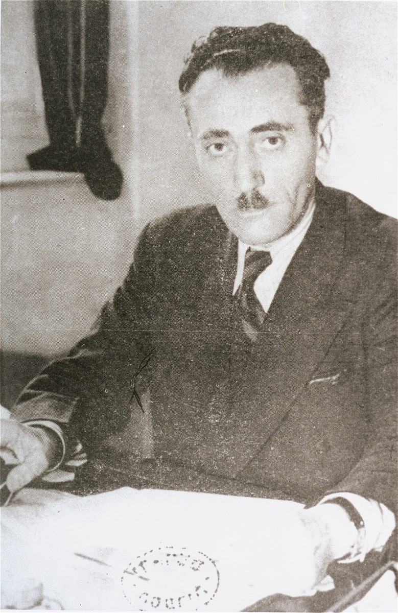 Portrait of Szmul Artur Zygielbojm, a member of the National Council of the Polish Government-in-Exile.