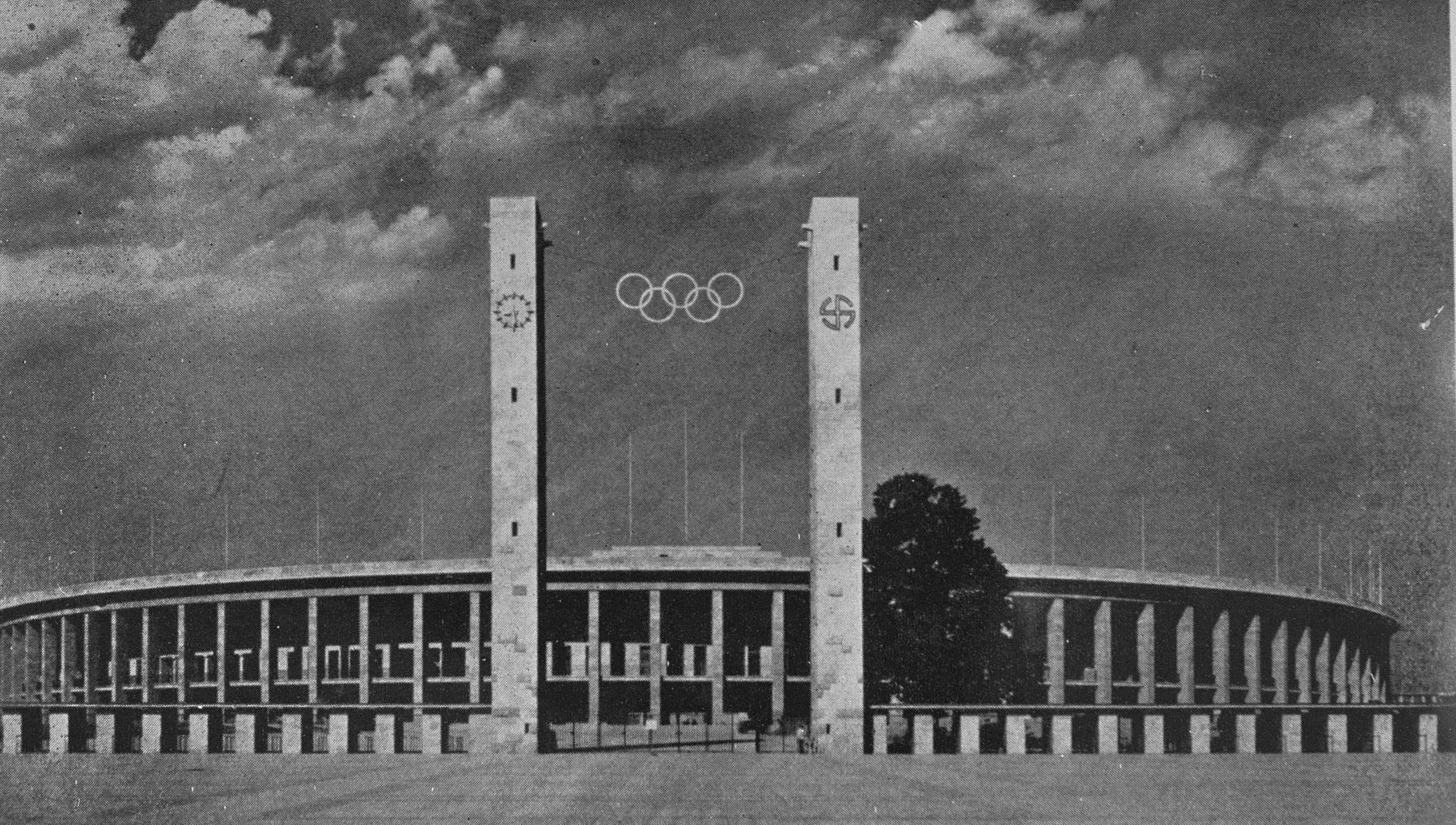 The Olympic stadium in Berlin, site of the 11th Olympic Games.