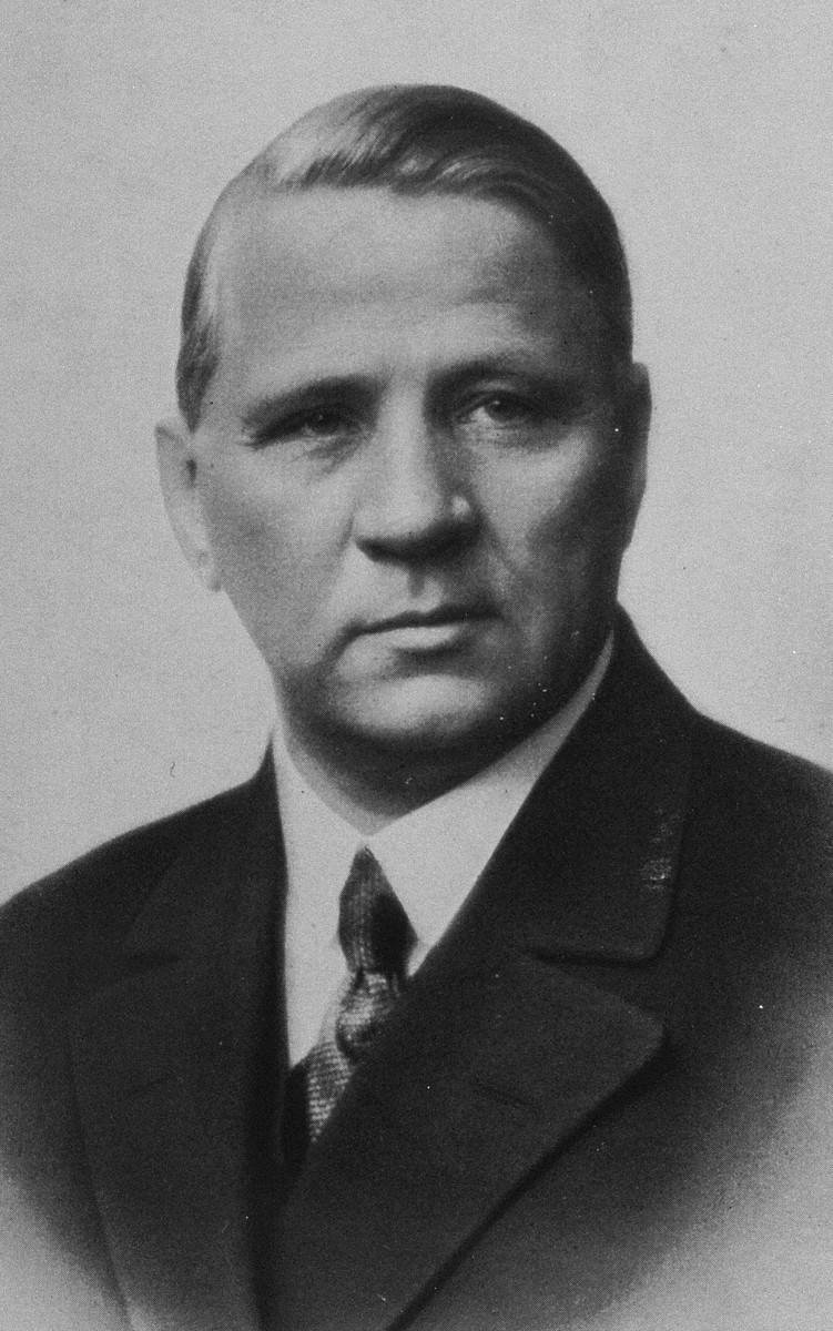 Portrait of J. Sigfrid Edstroem, chairman of the Swedish Olympic Committee.