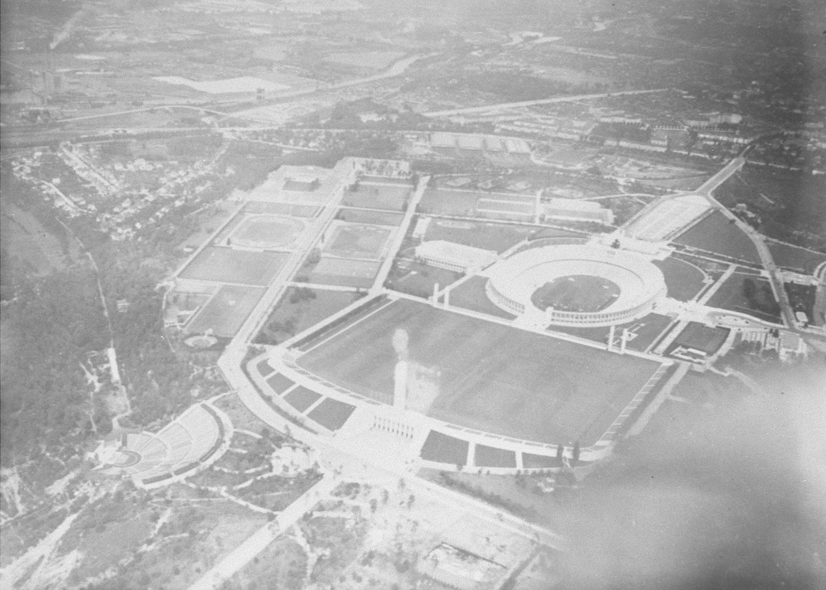 The Olympic stadium and complex in Berlin, site of the 11th Olympiad.