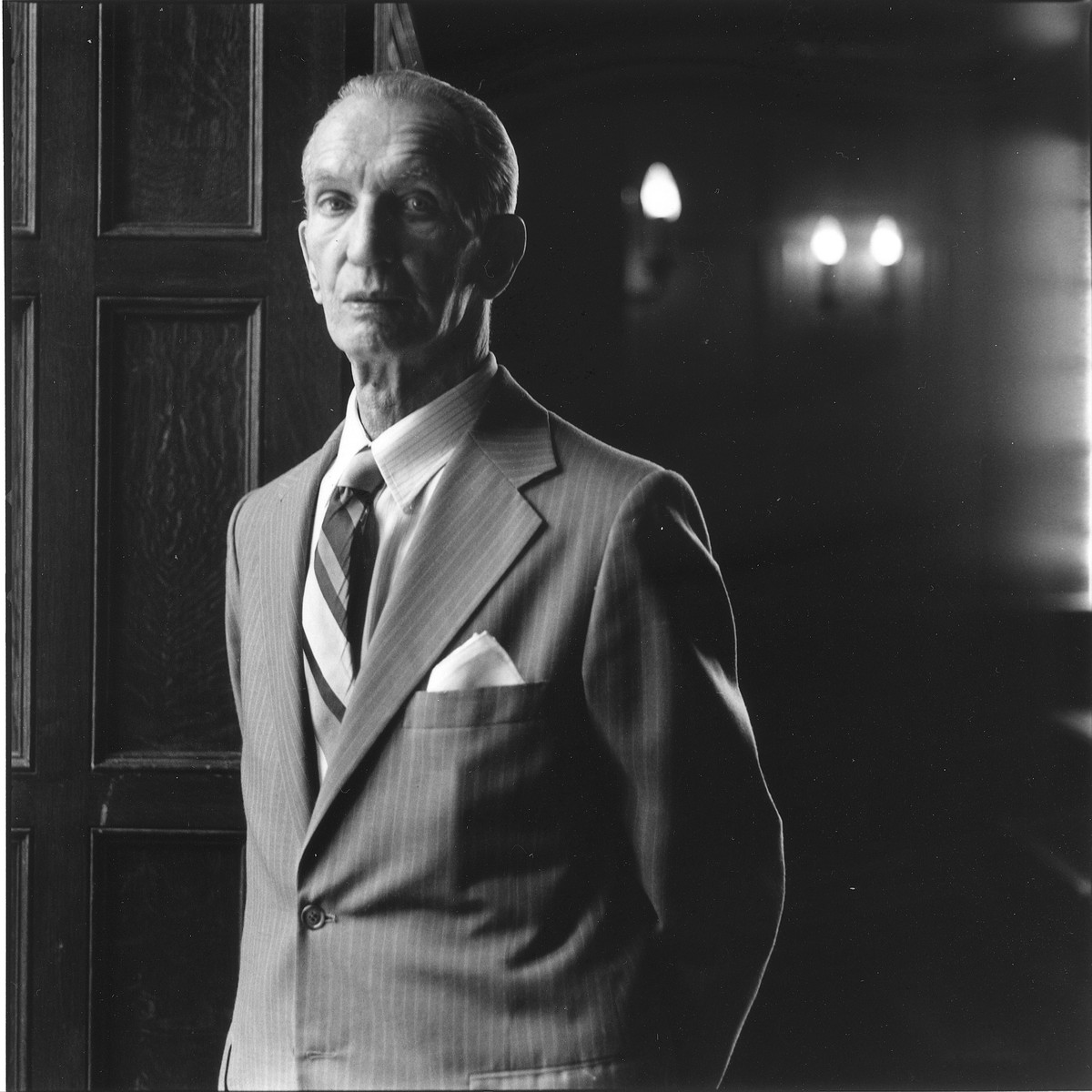 Portrait of Jan Karski at Georgetown University.