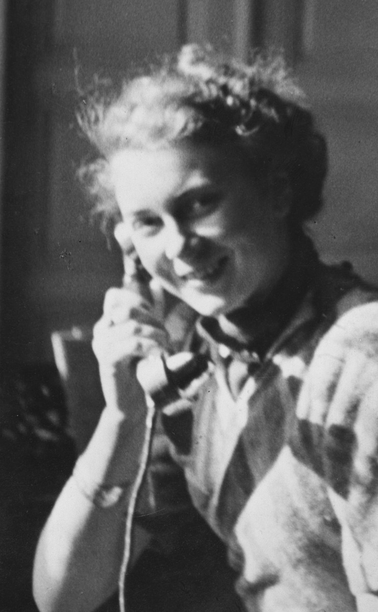 Close-up portrait of Austrian rescuer, Christine Denner, who gave her Jewish friend Edith Hahn duplicate copies of all her identification documents to use as false papers.