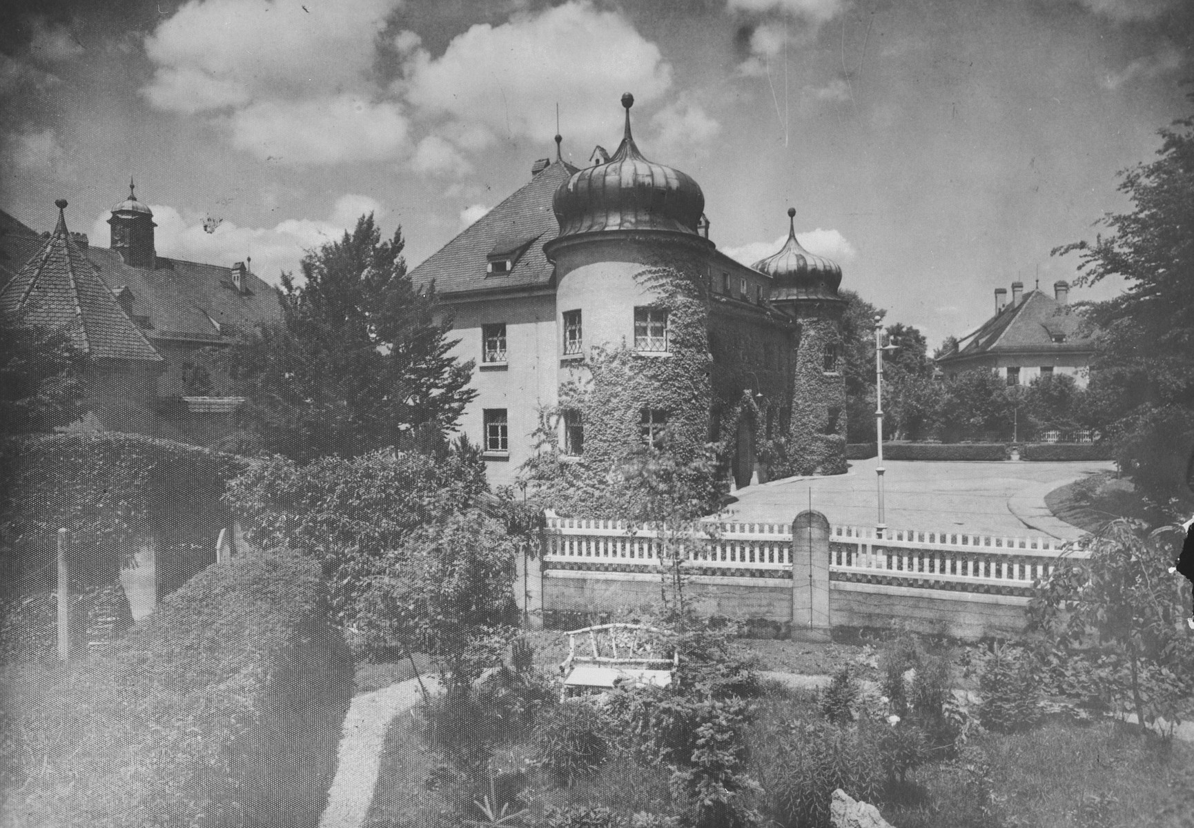 Exterior view of Landsberg prison where German war criminals were interned during the subsequent Nuremberg trials.