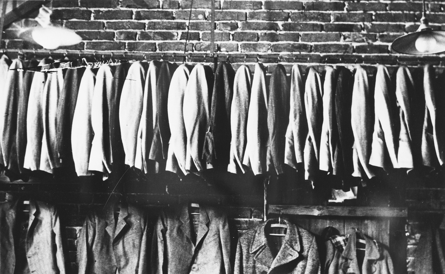Men's suits made by prisoners at a Slovak labor camp.