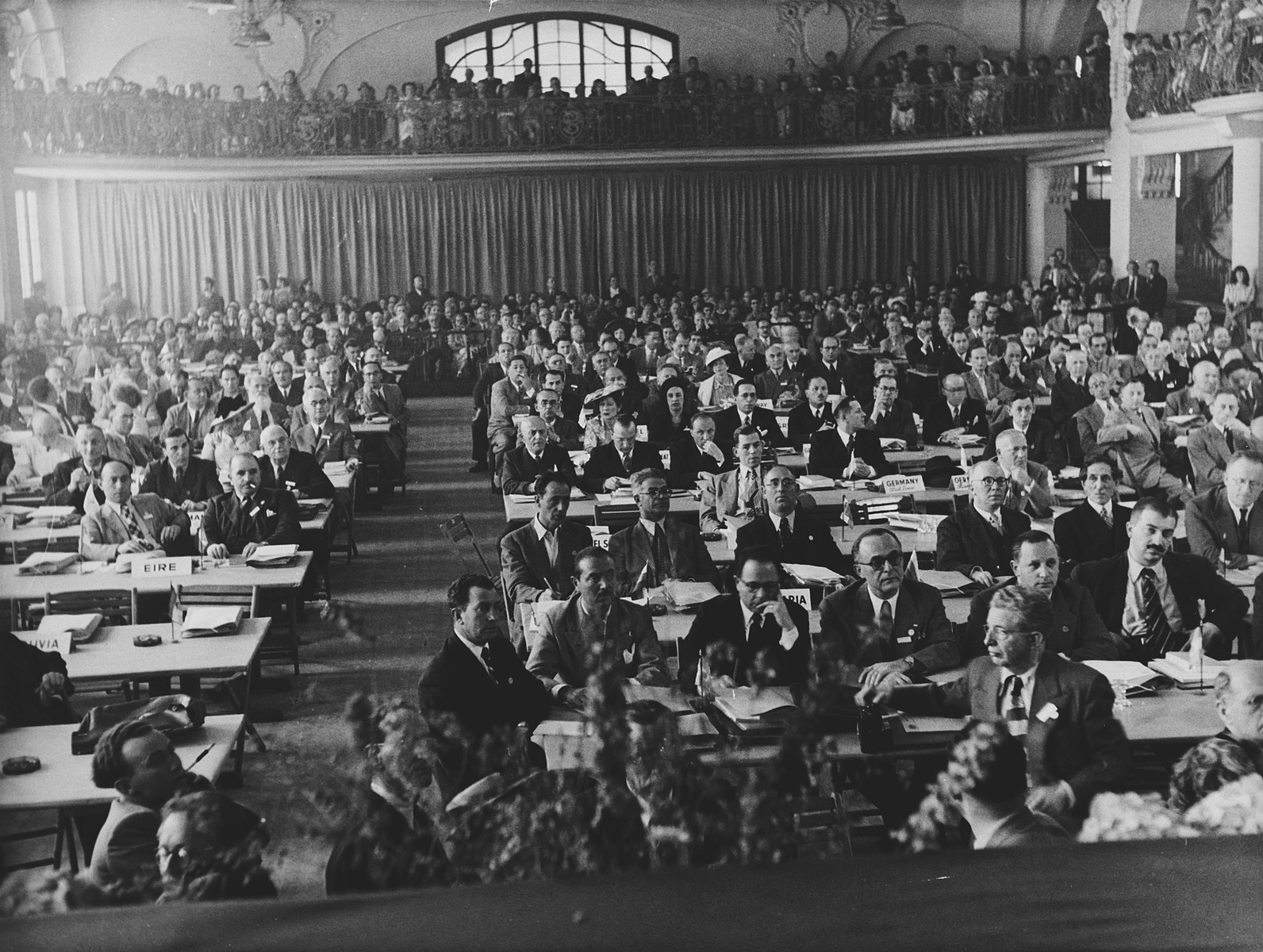 Meeting of the World Jewish Congress in Montreux, Switzerland.