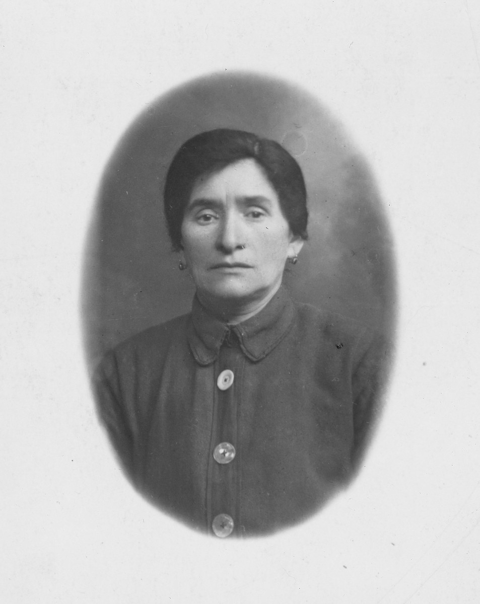 A studio portrait of the donor's grandmother, Ytke.