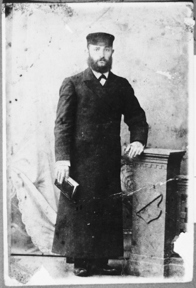 Studio portrait of donor's father, Benjamin Hochman.