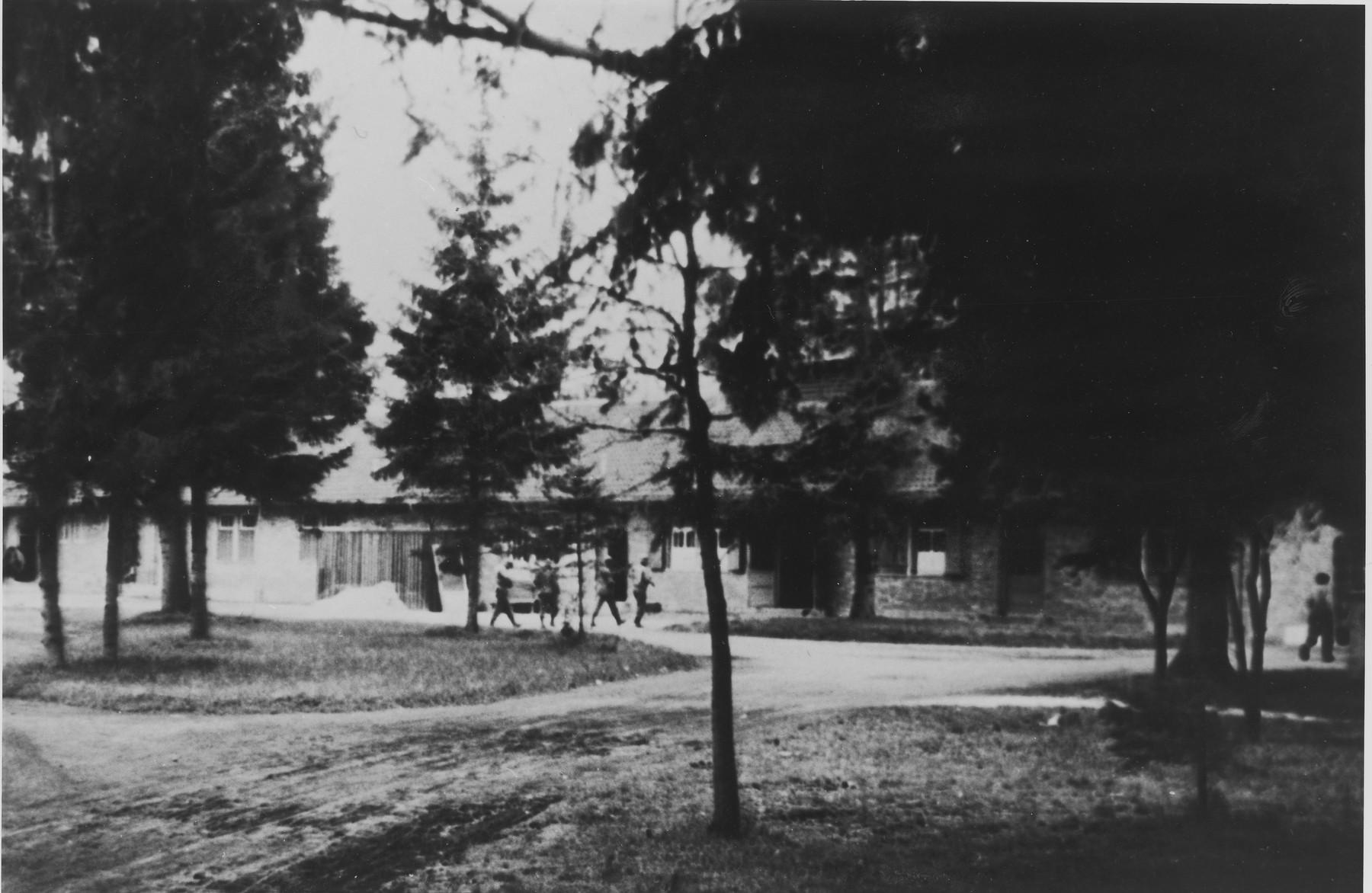 View of the crematorium at Dachau.