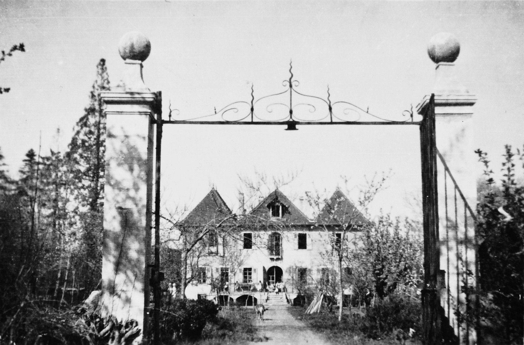View of the entrance to the Pringy children's home, operated by the Swiss Red Cross.