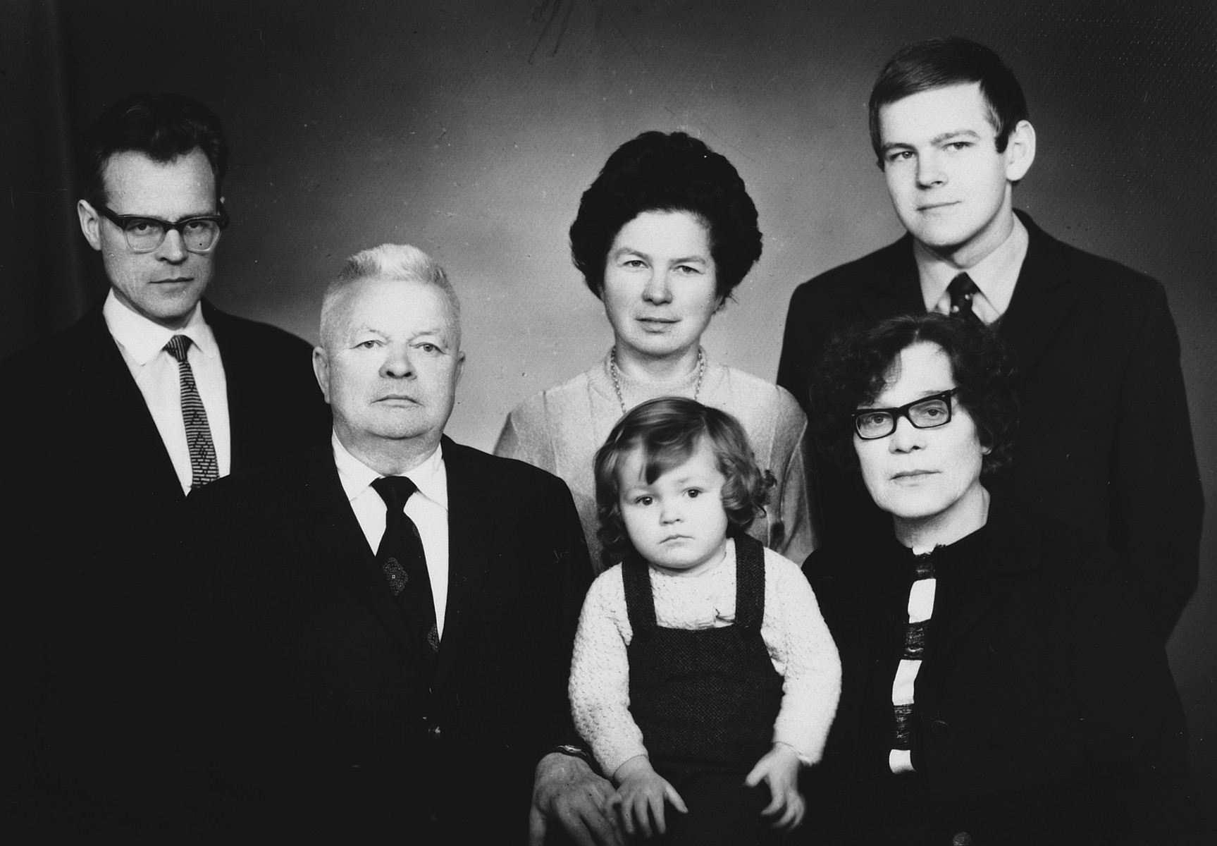 Postwar photograph of the family of Lithuanian rescuer, Vytuatas Garkauskas.