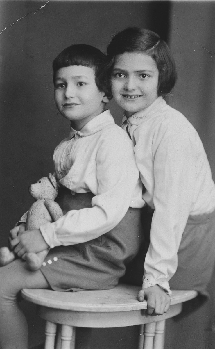 Prewar portrait of a Jewish brother and sister in Lvov.  Pictured are Julian and Janina Bussgang.