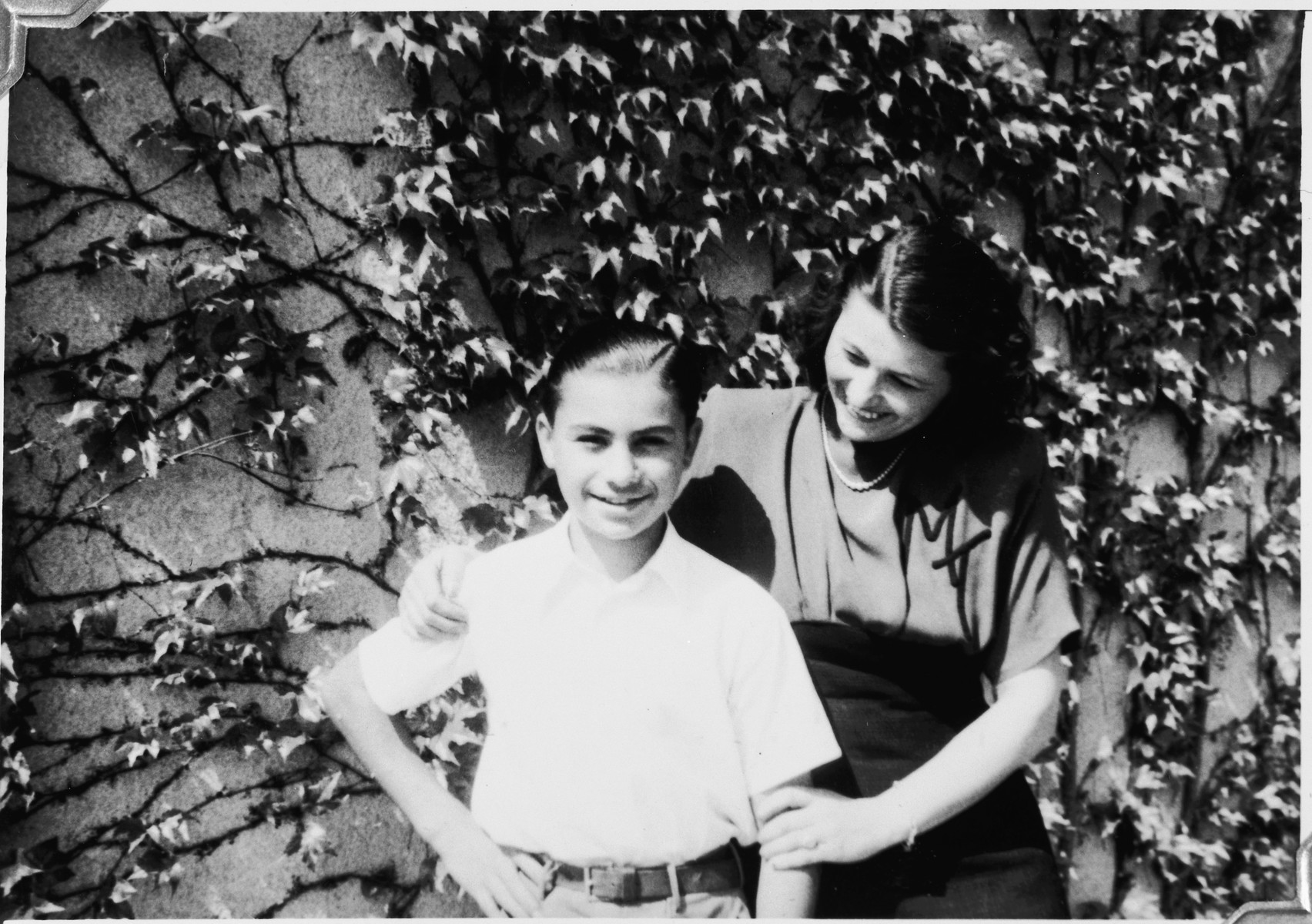 Portrait of two young people in the Windsheim displaced persons' camp.