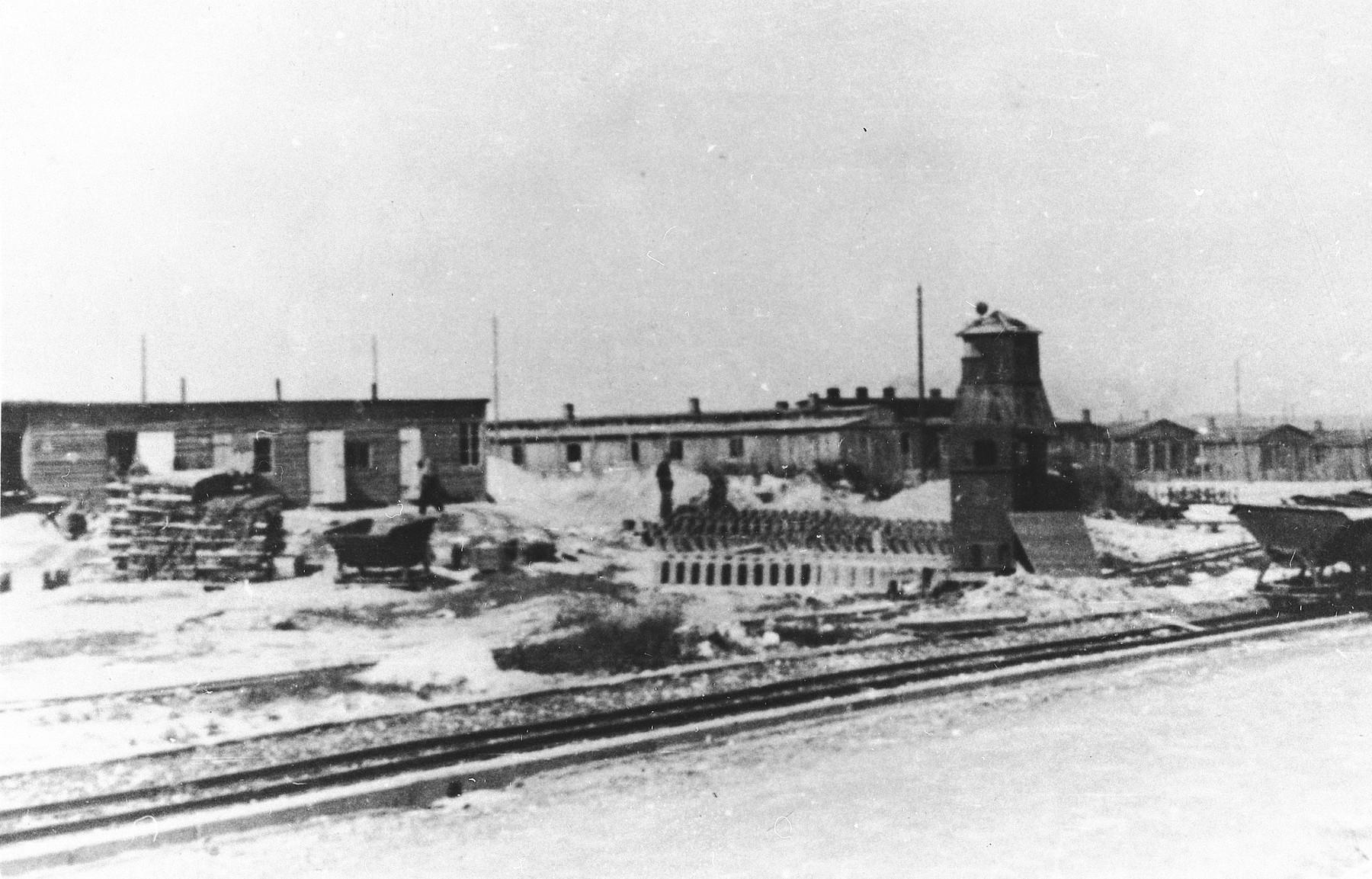 Prisoners at forced labor in the Majdanek concentration camp.