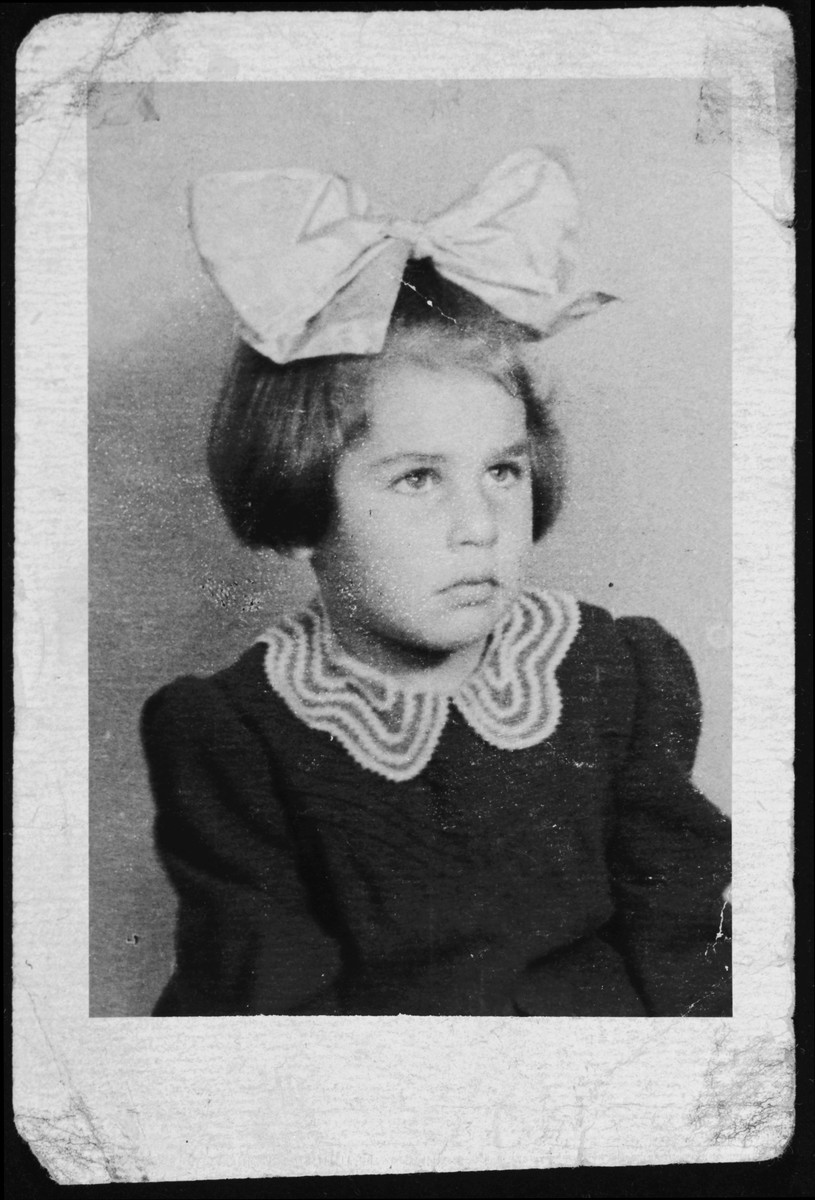 Wartime portrait of a Jewish girl.   Pictured is Rita Blumstein.