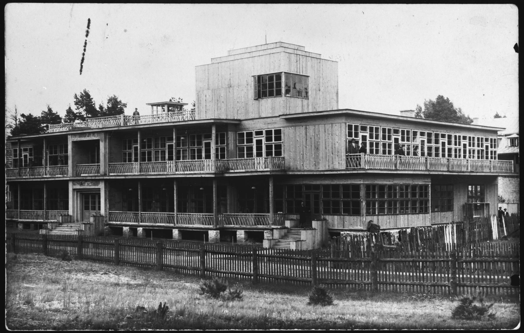 Sanatorium in Druskieniki, Poland.  Pictured is the Blumstein family's hotel/sanatorium/spa.