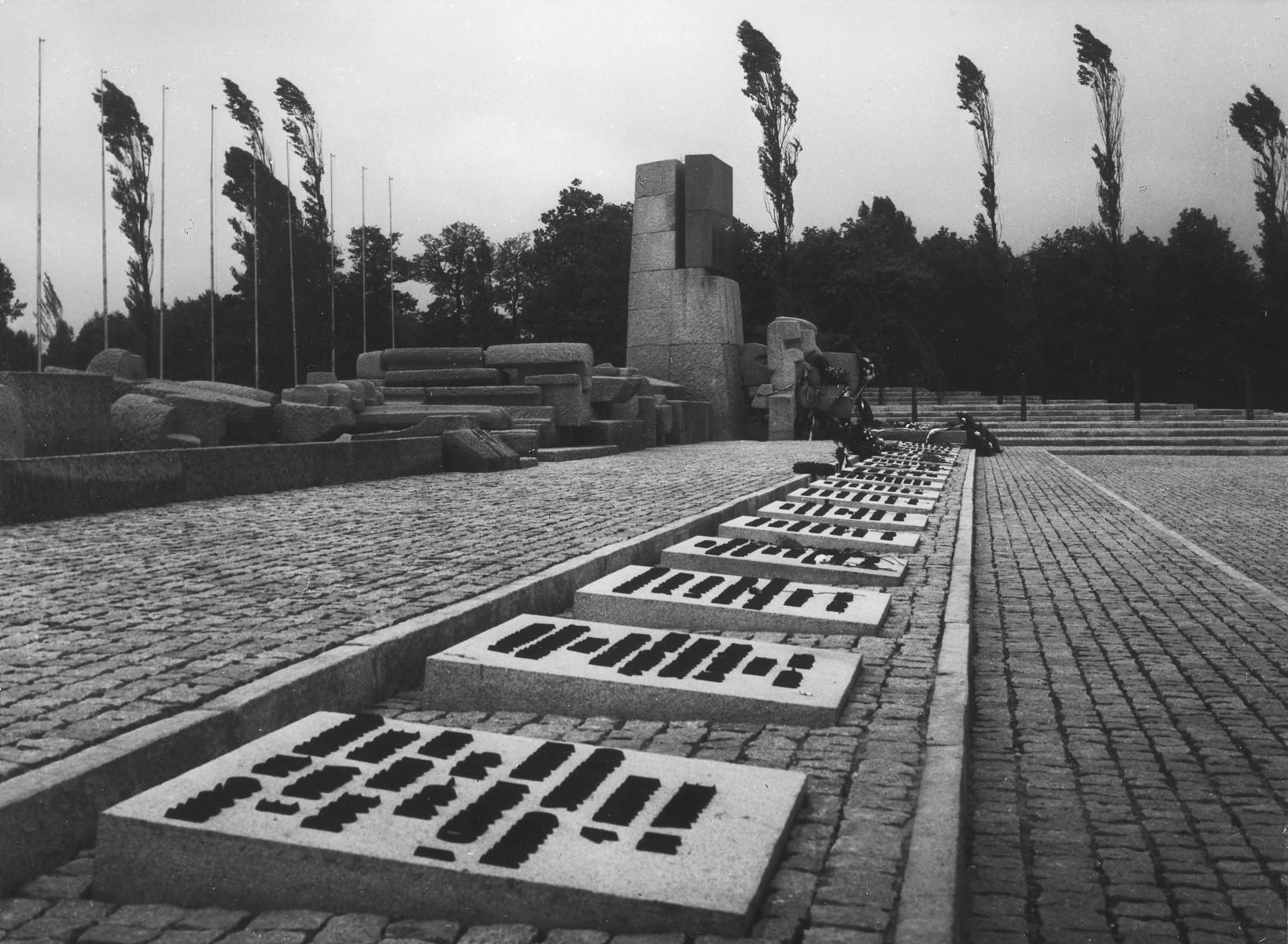 View of the memorial at Auschwitz-Birkenau.