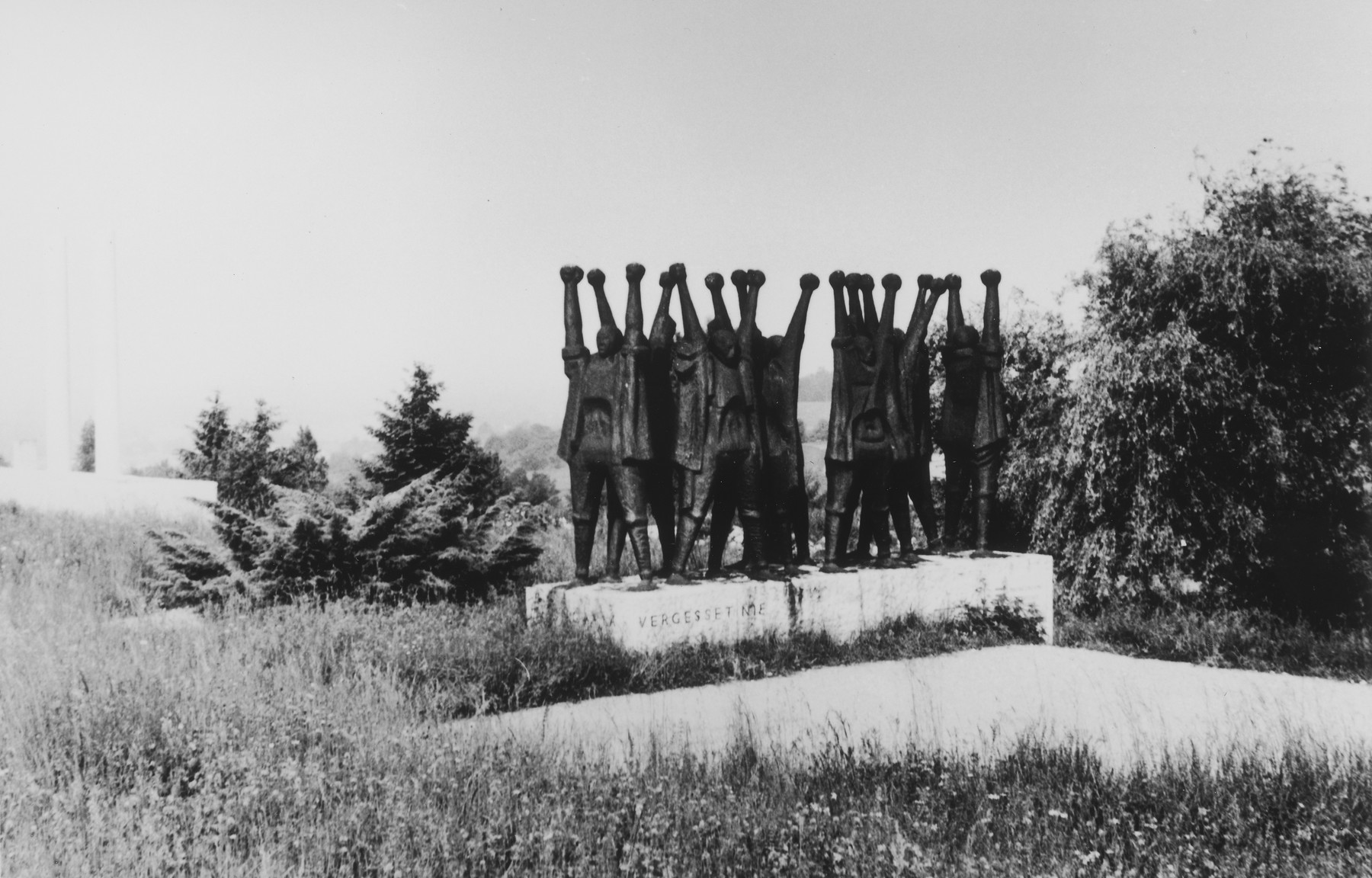 Memorial sculpture to the Hungarian victims of Mauthausen erected on the site of the former concentration camp.