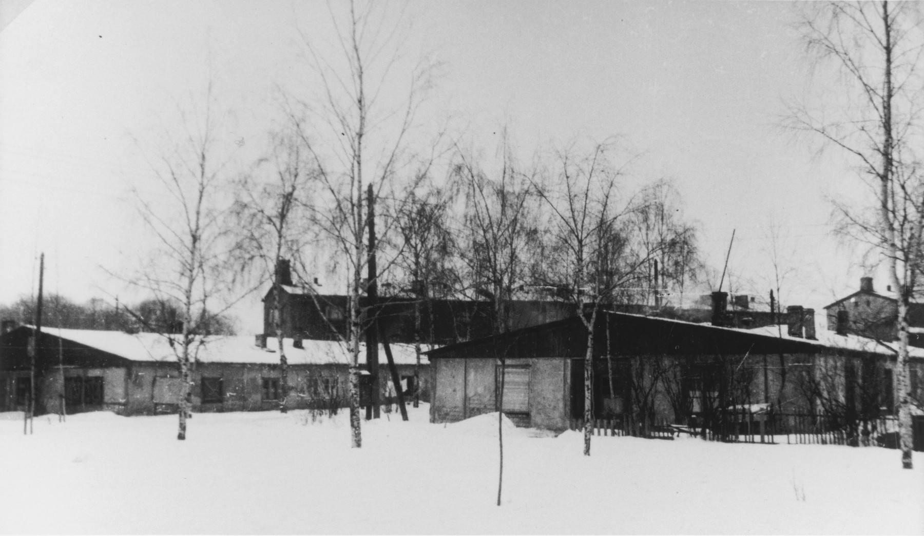 View of the former Kaiserwald concentration camp.
