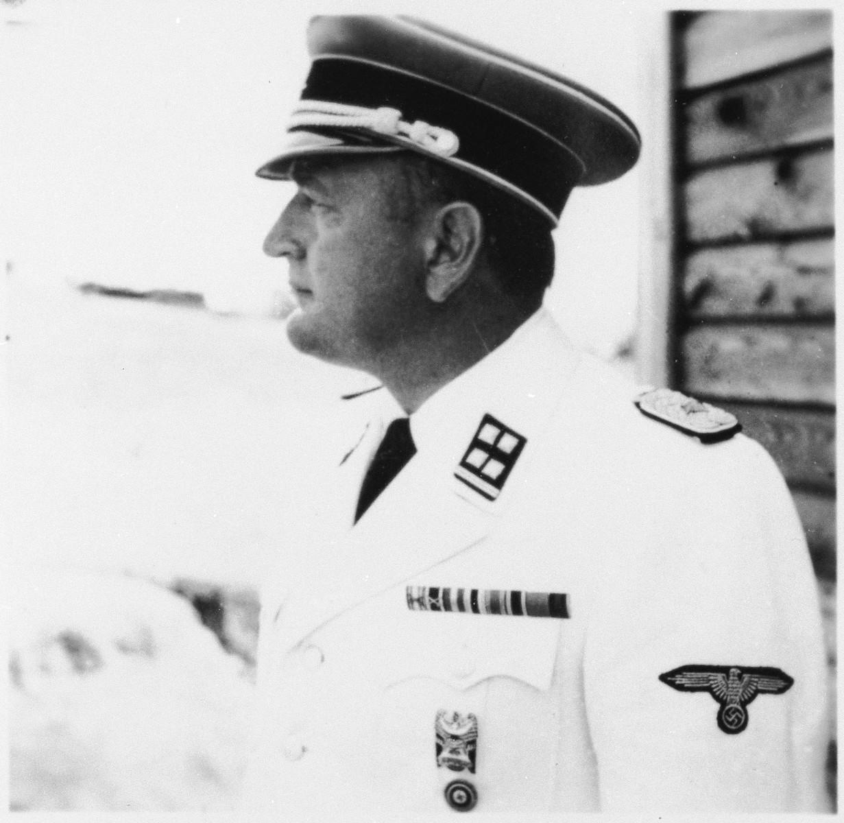 The commander of Gross-Rosen, SS- Obersturmbannfuehrer Arthur Roedl.