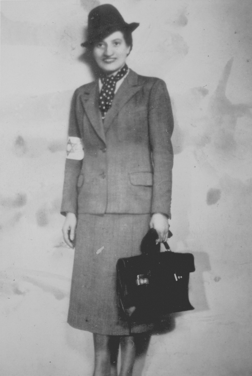 Sonia Nowogrodzka, a member of the underground Jewish Labor Bund Central Committee in the Warsaw ghetto.  She was deported to Treblinka where she perished in September 1942.