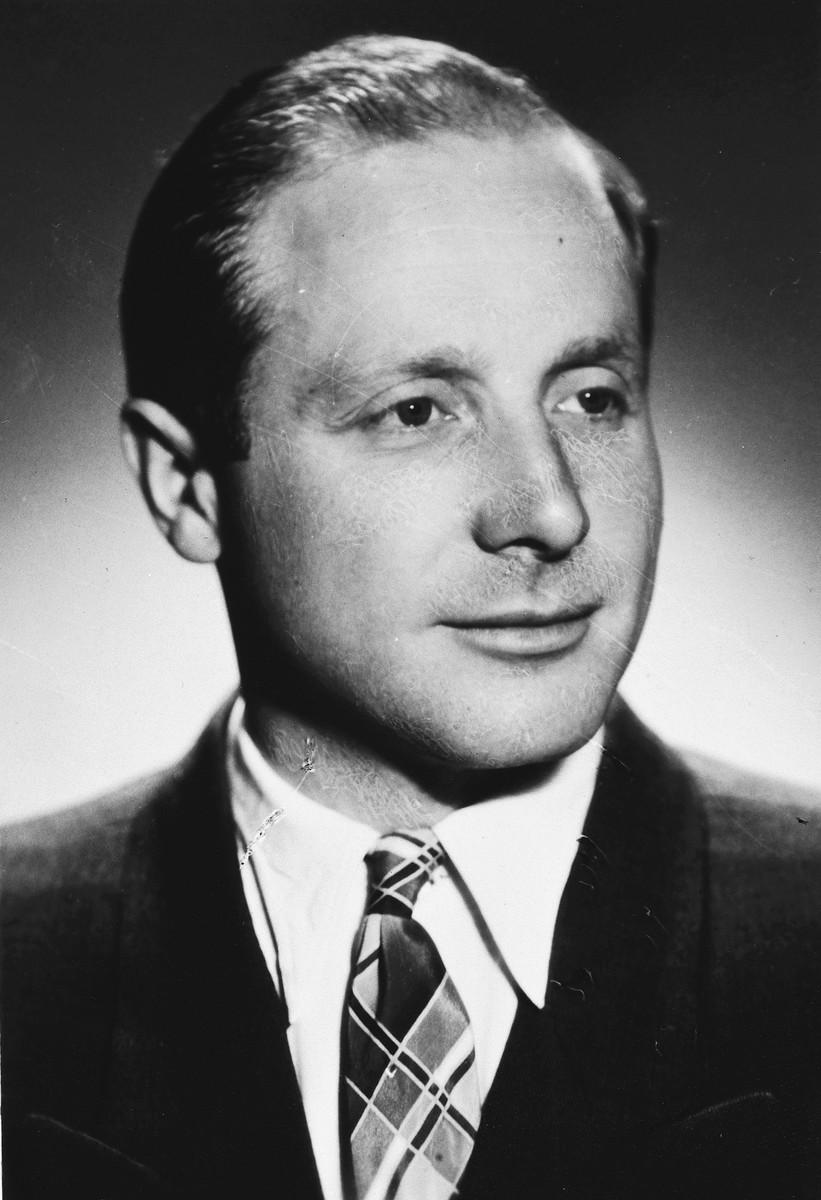 Portrait of Kovno Jewish partisan, Israel Goldblatt.