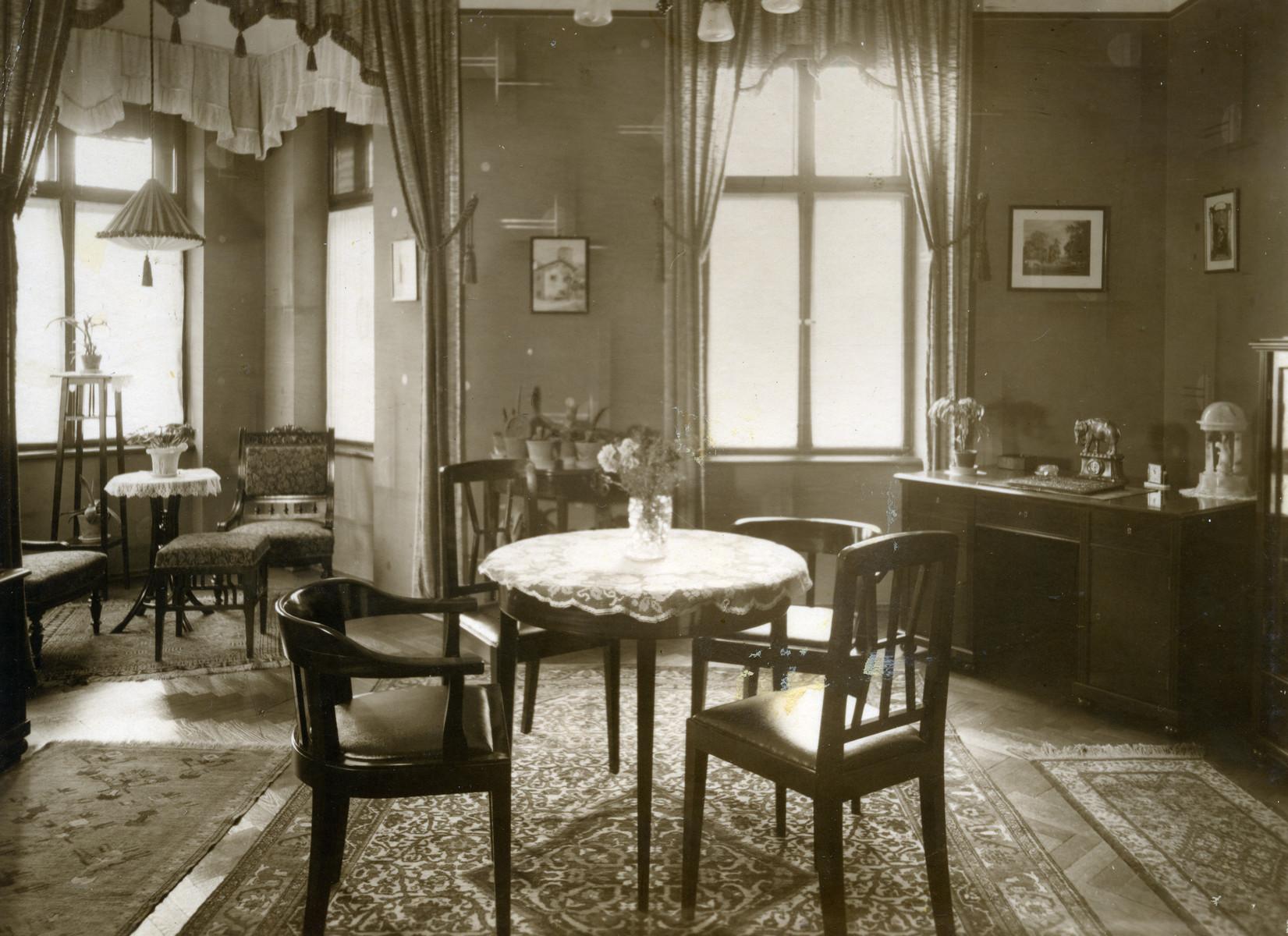 View of the interior of Kohn family apartment
