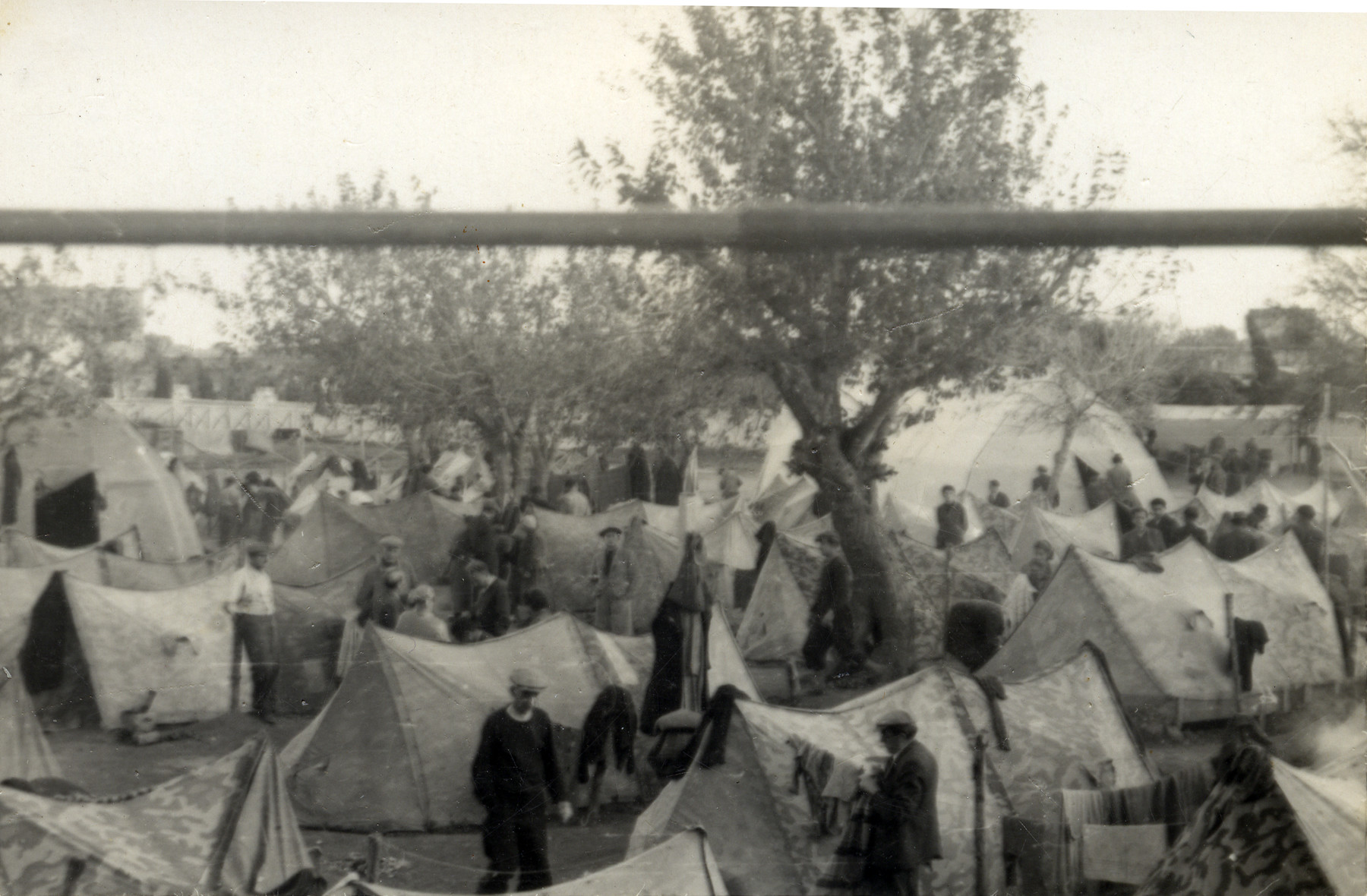 Tent city for passengers on the Pentcho following their shipwreck.