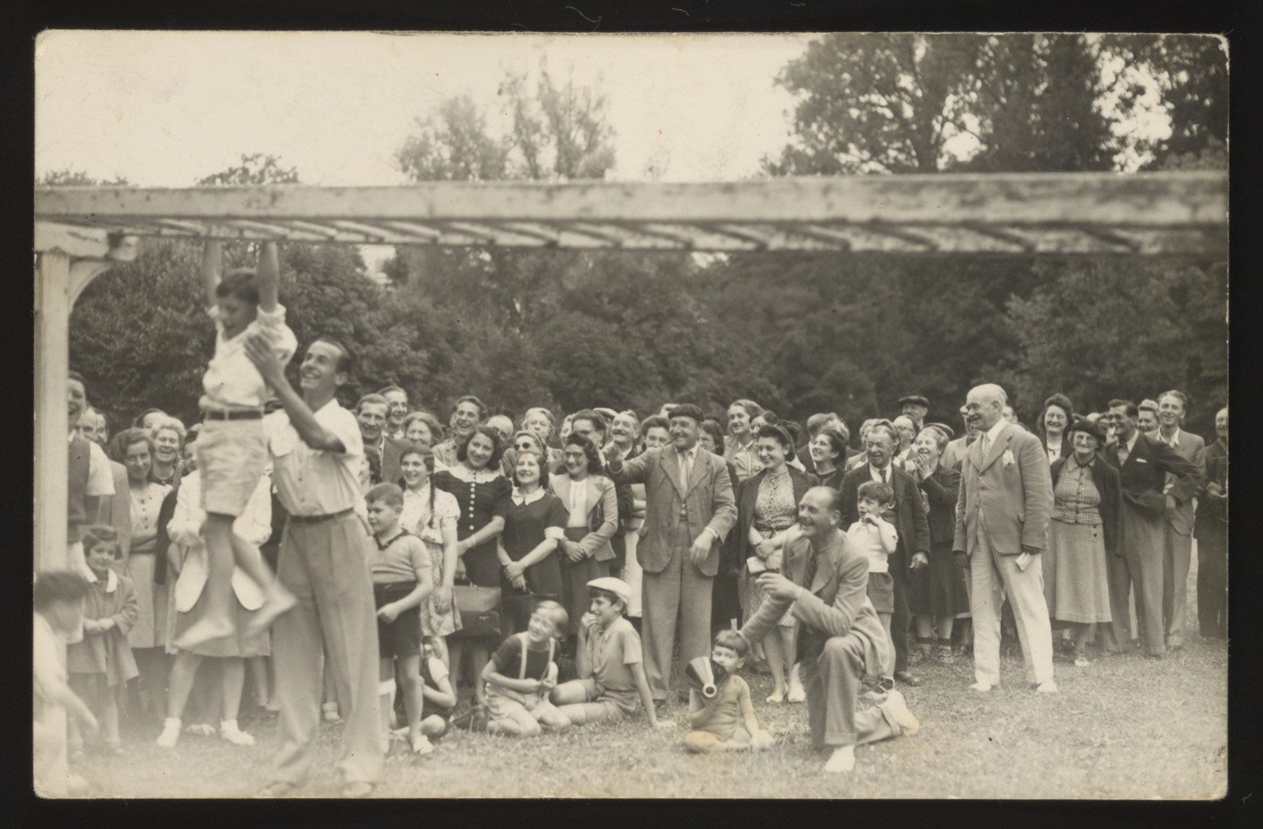 Internees participate in a sports day at the Vittel internment camp for foreign nationals.