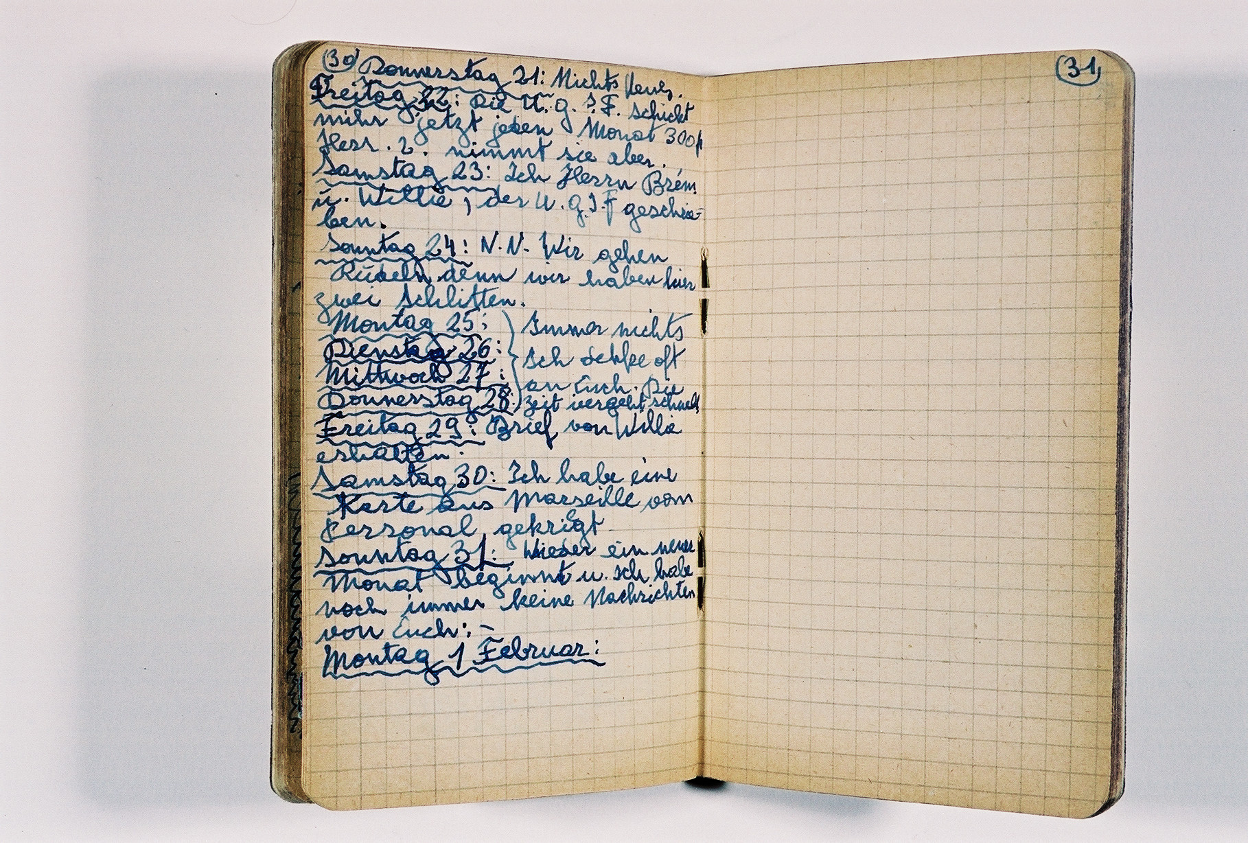 Private journal kept by Klaus Peter (later Pierre) Feigl, an Austrian/German Jewish refugee child living in France during World War II.