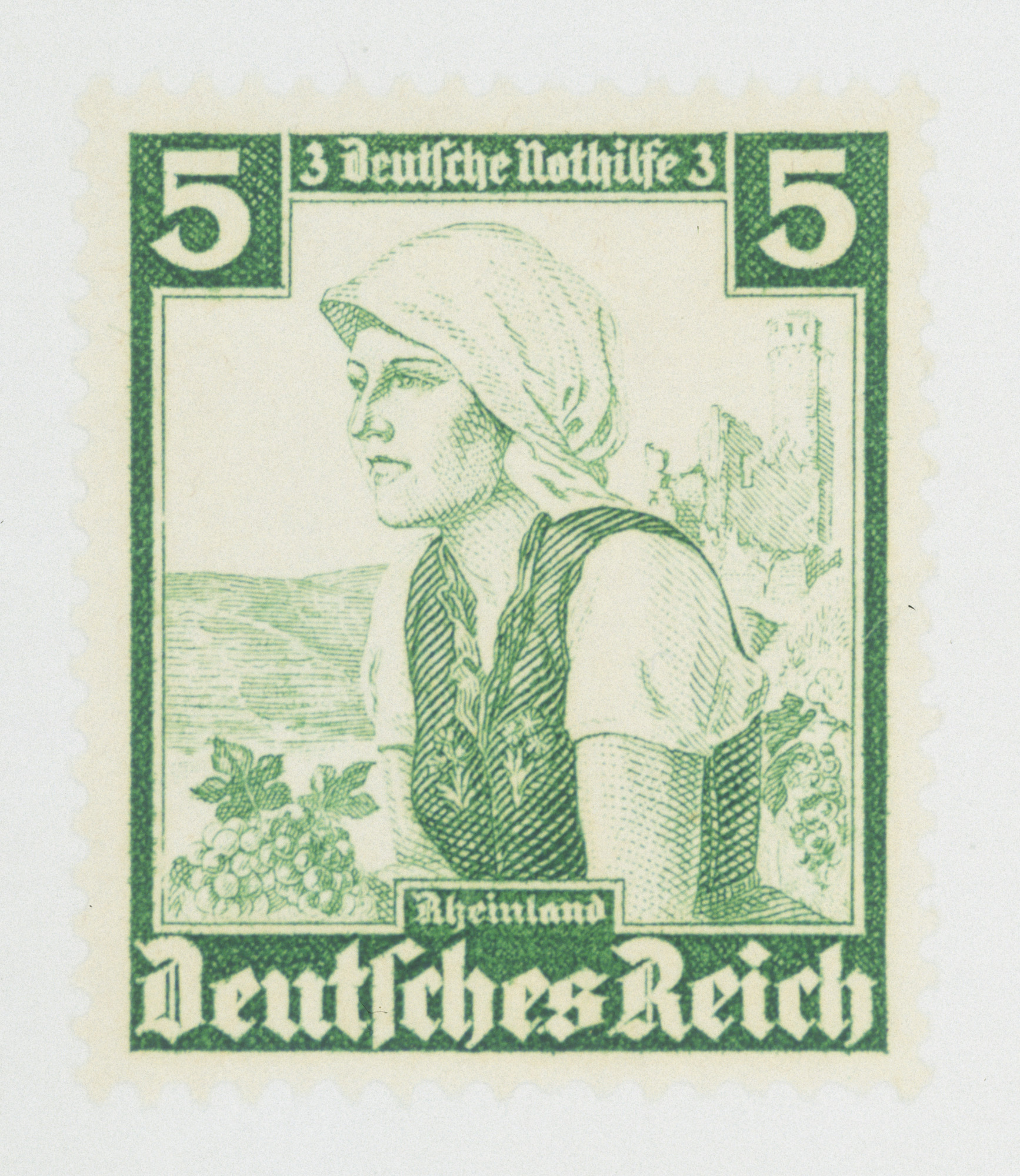 Third Reich stamp honoring peasants in the Rhineland.