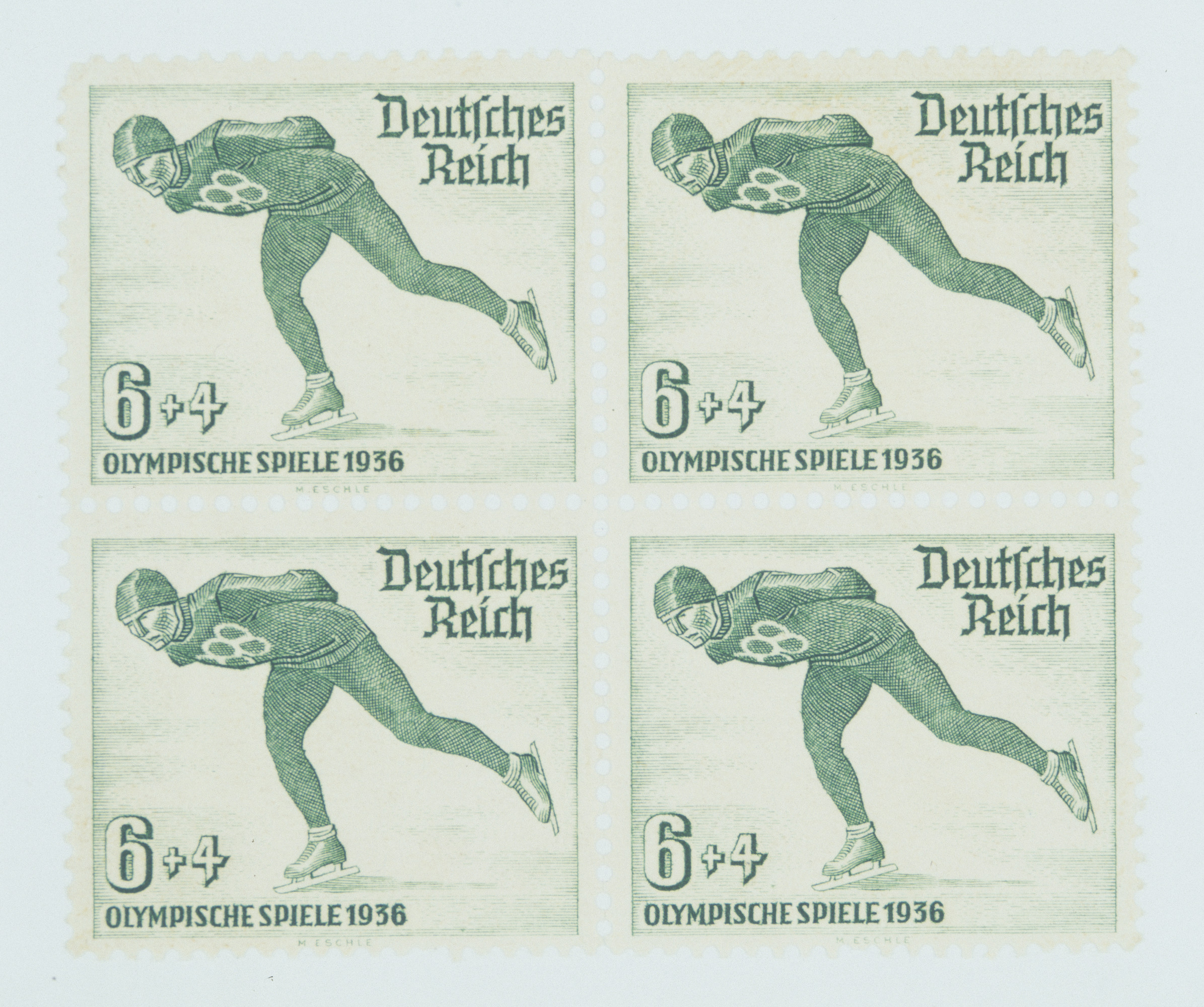 Third Reich stamps commemorating the Berlin Olympic Games of 1936.