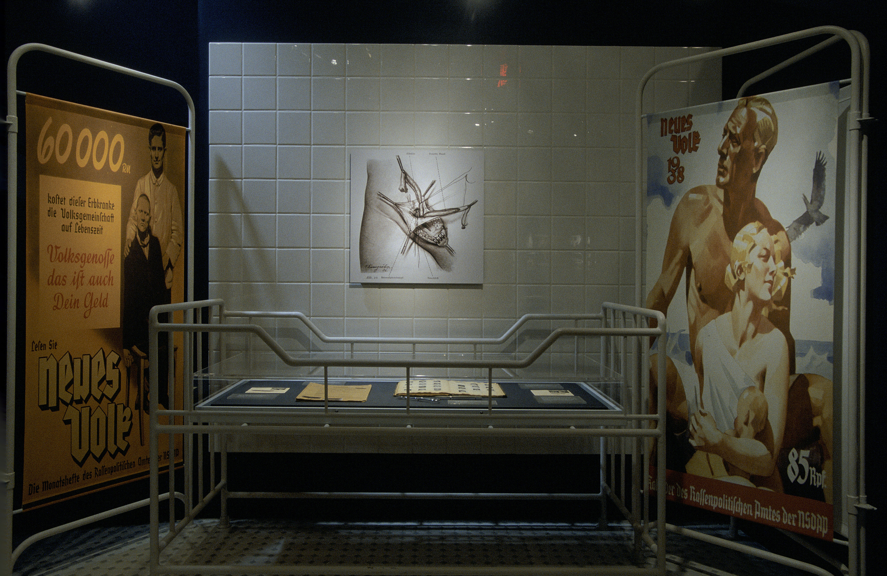 """One segment from the special exhibition, """"Deadly Medicine: Creating the Master Race,"""" U.S. Holocaust Memorial Museum, which opened on April 22, 2004."""