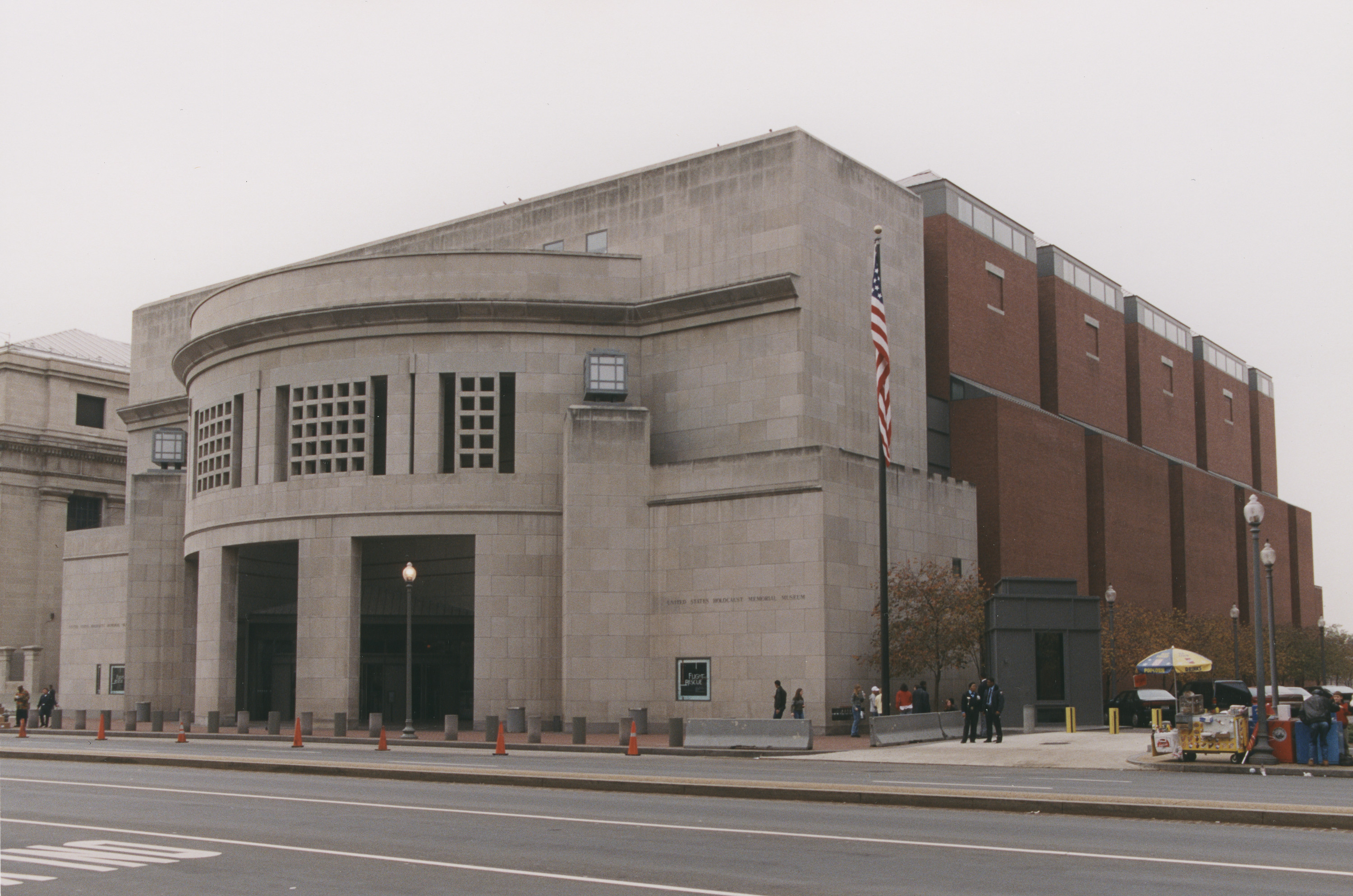 View of the U.S. Holocaust Memorial Museum from across 14th Street.