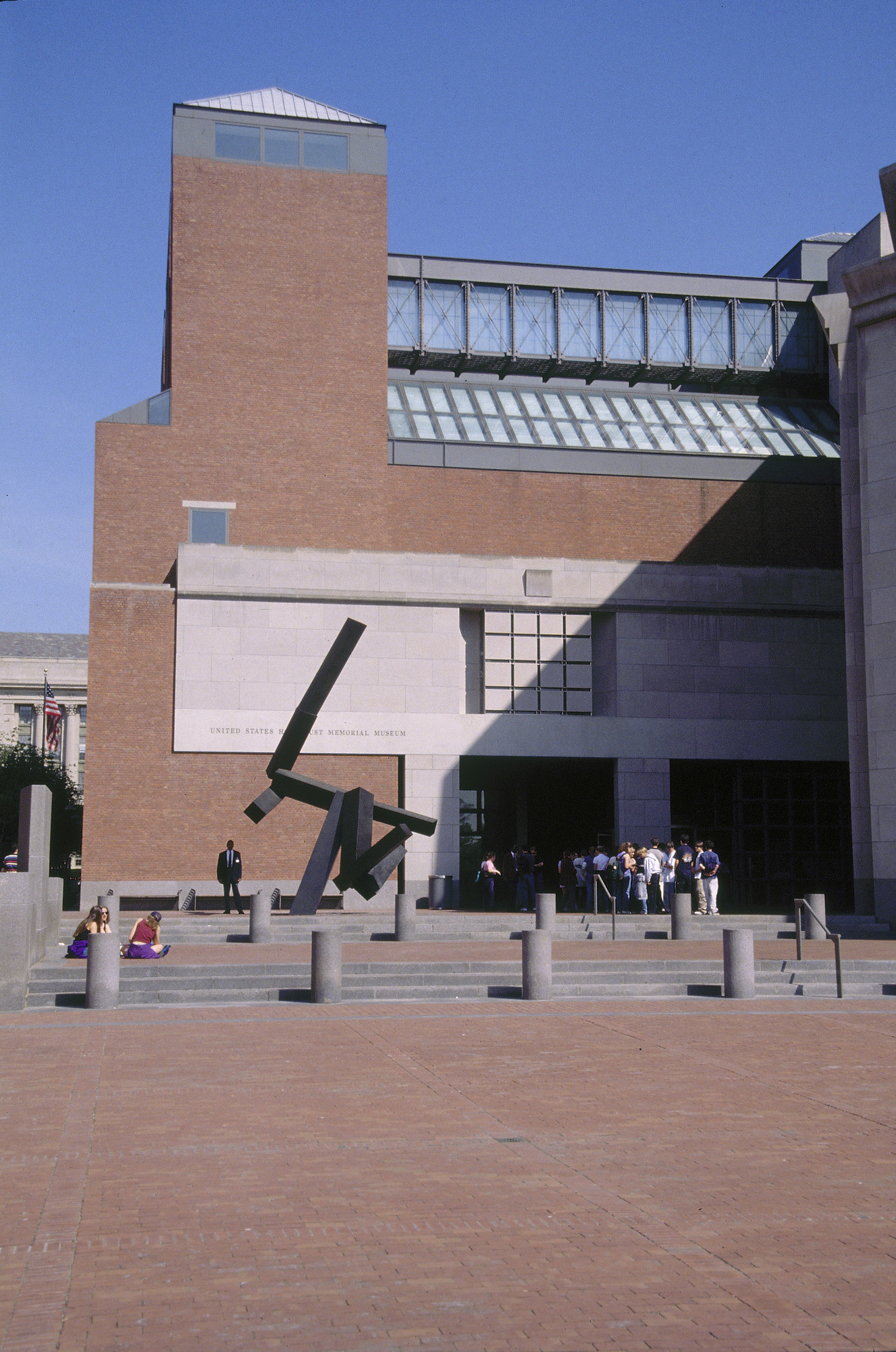 View of the U.S. Holocaust Memorial Museum from 15th Street.