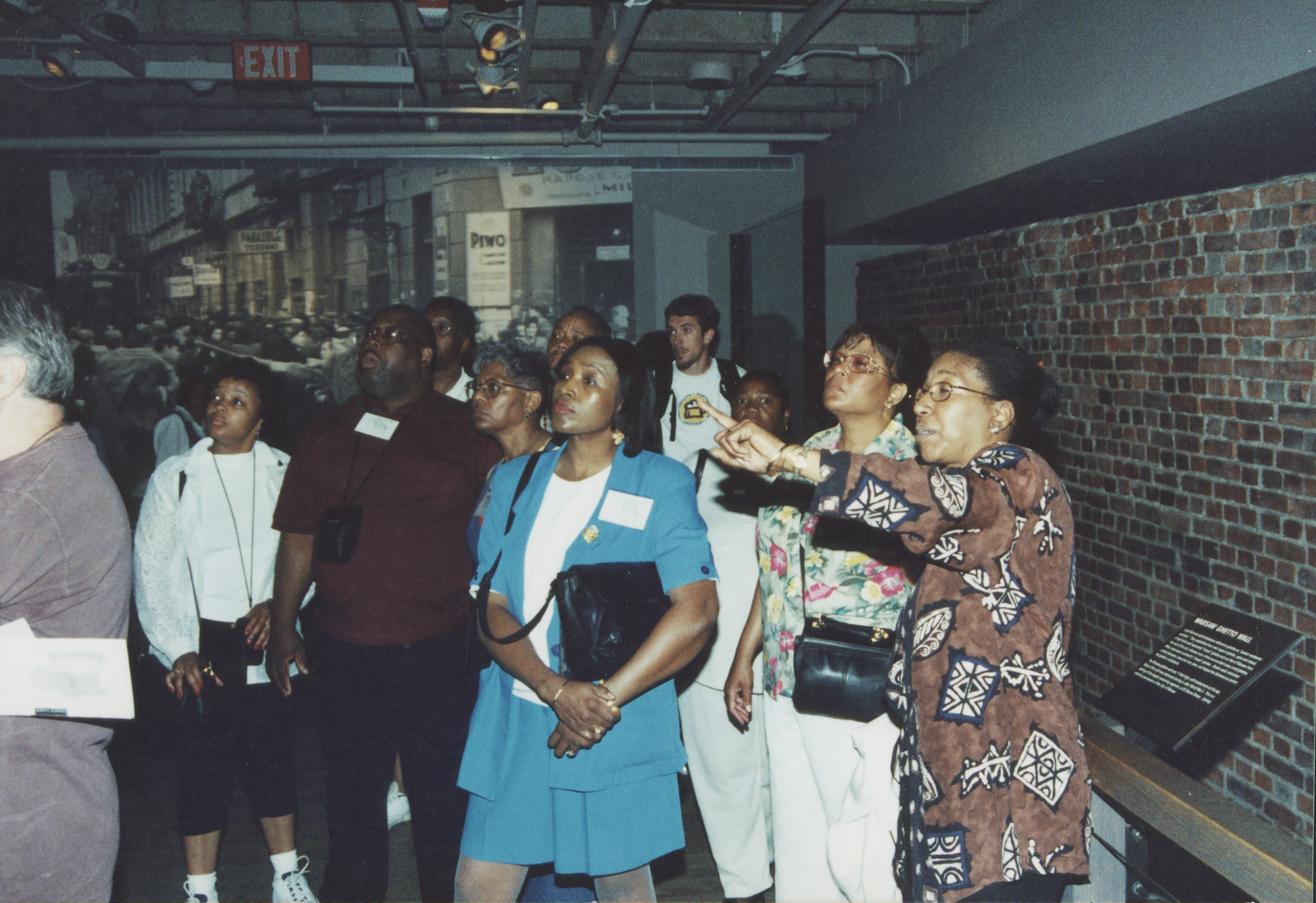 """A church group from North Carolina visits the U.S. Holocaust Memorial Museum as part of the """"Lift Every Voice"""" program and is given a tour of the Permanent Exhibition by Lynn Williams."""