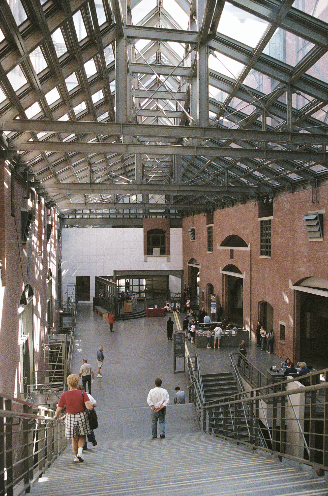 View of the Hall of Witness in the U.S. Holocaust Memorial Museum during a ceremony commemorating the first anniversary of the September 11, 2001 terrorist attacks.