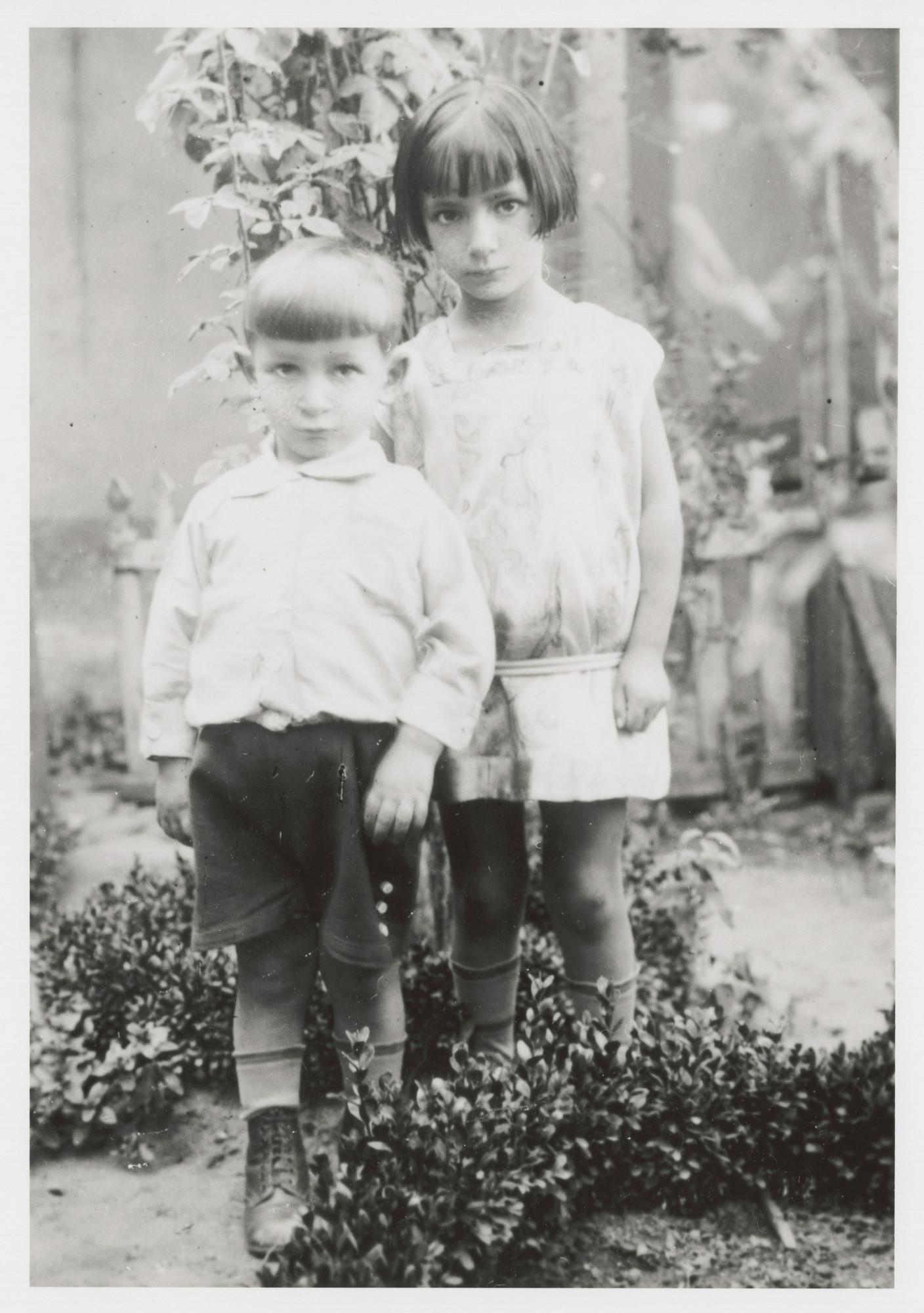 Portrait of Victor and Stella Nahmias.