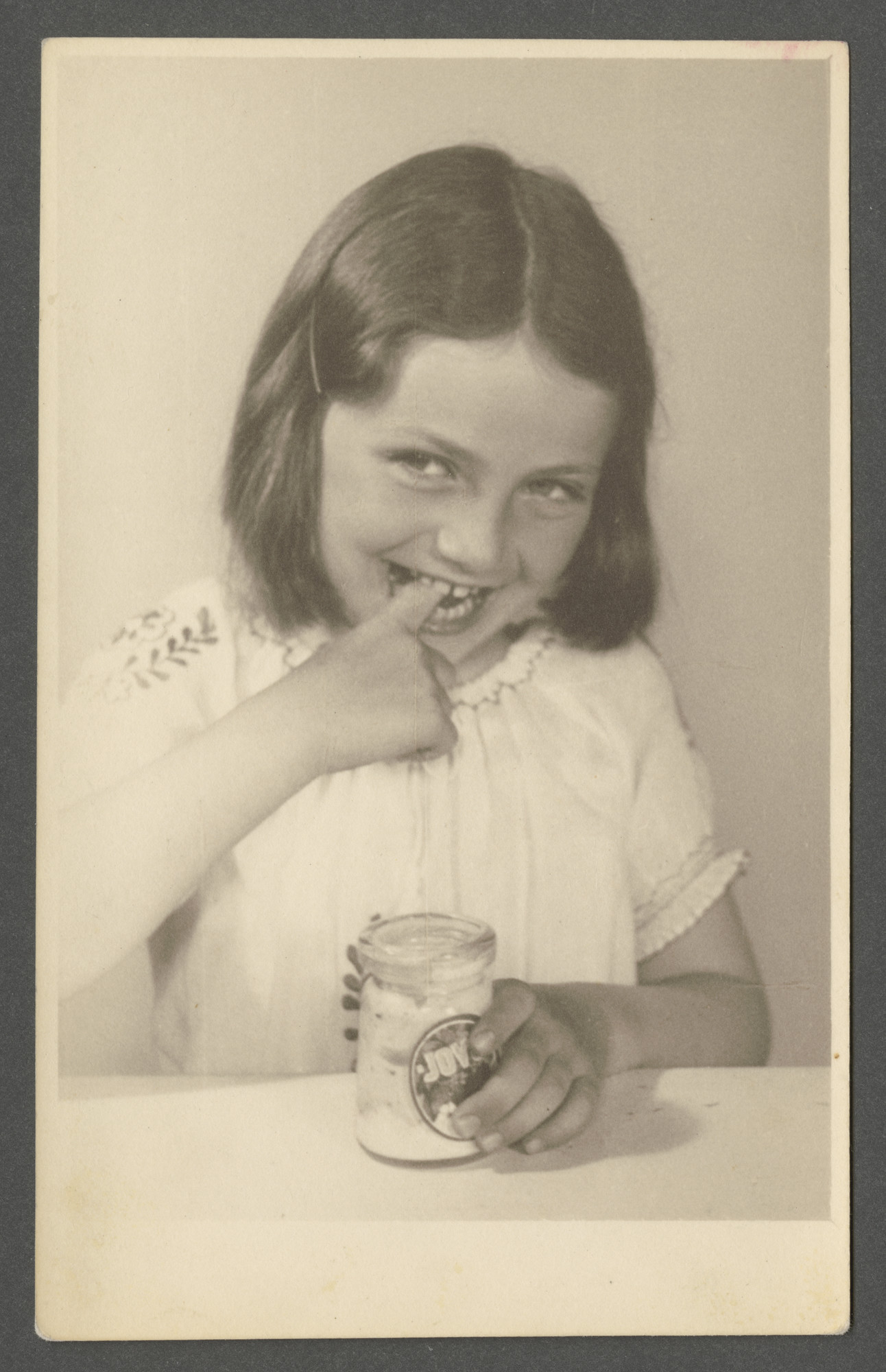 Renee Goldschmied is pictured in a photograph to be used in an advertisement for Jovo yogurt.