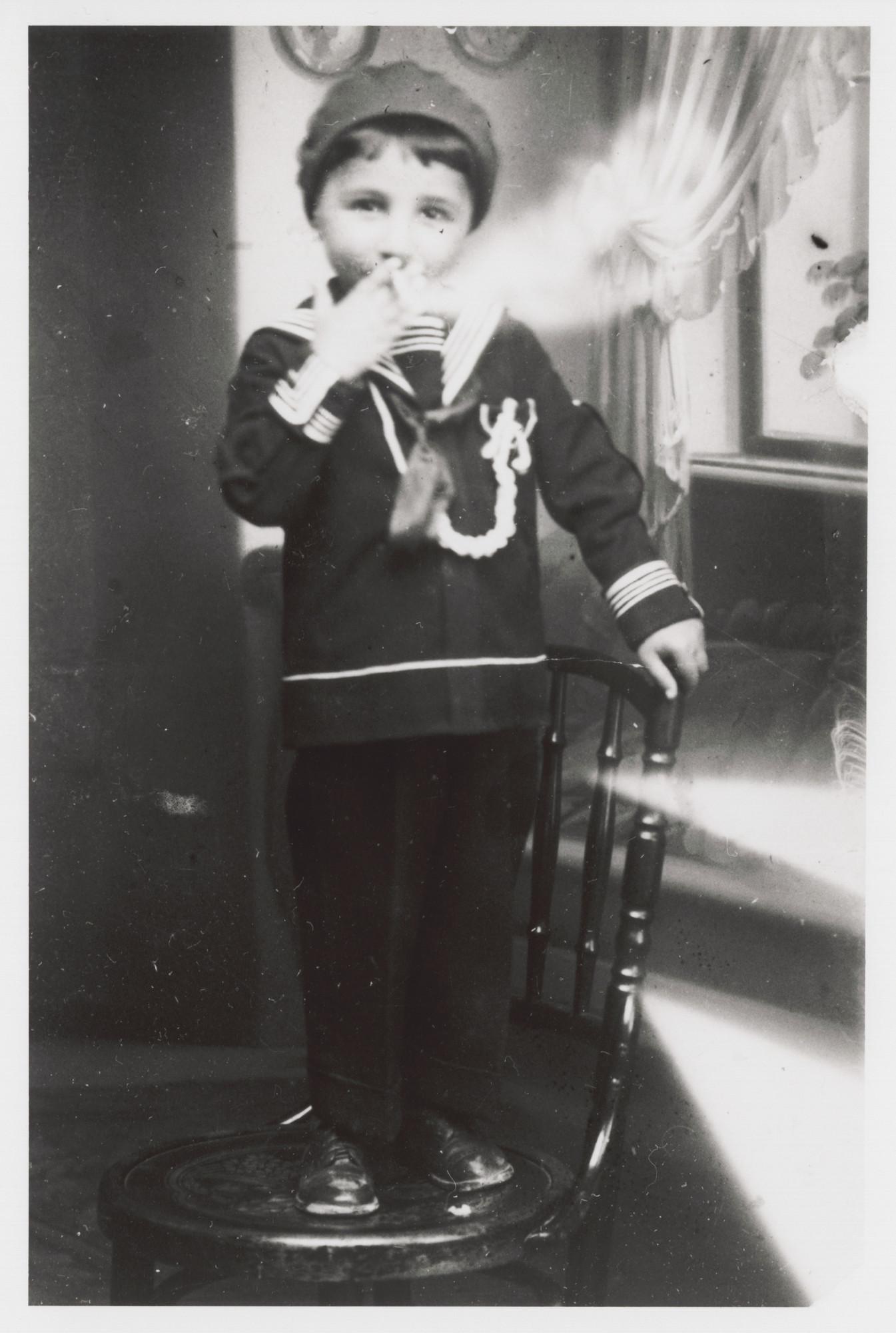 Portrait of Victor Nahmias as a young boy.
