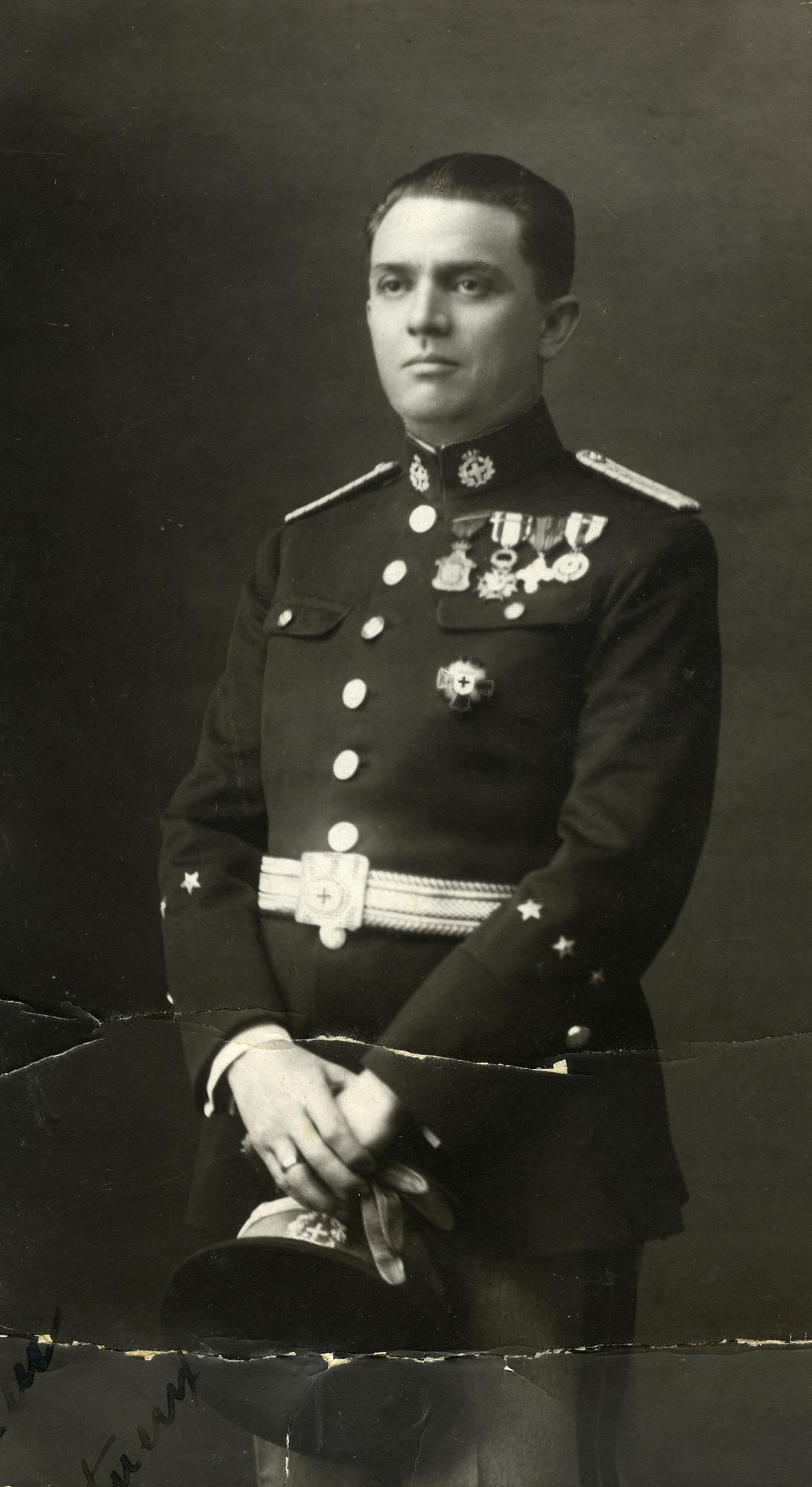 Portrait of Vice Consul Salomon Ezratty.  Salomon was the brother of Haim Ezratty, Jenny's father.