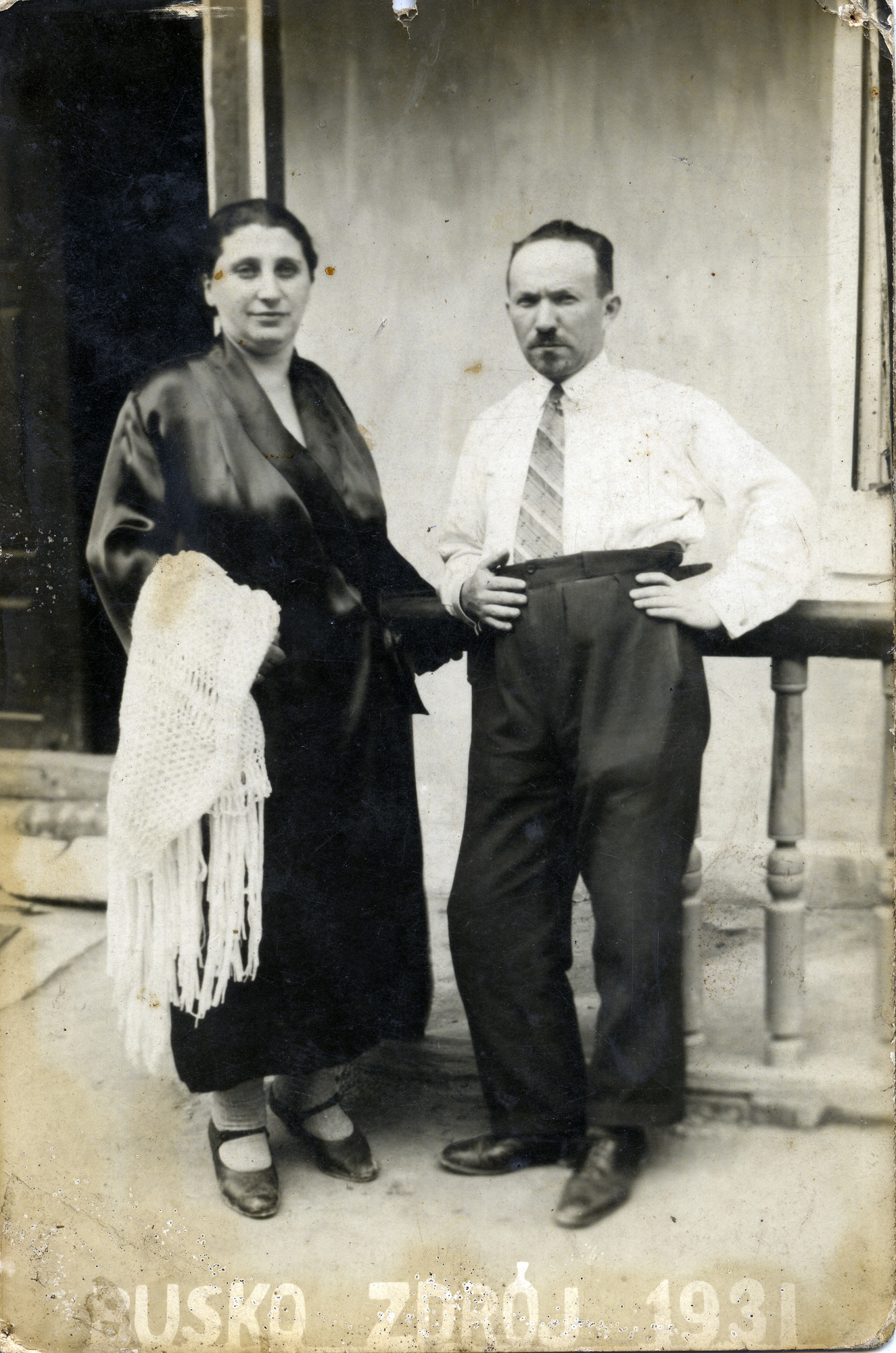 Portrait of Israel and Rivka Rybak Miedzyrzecki in Busko Zroj.