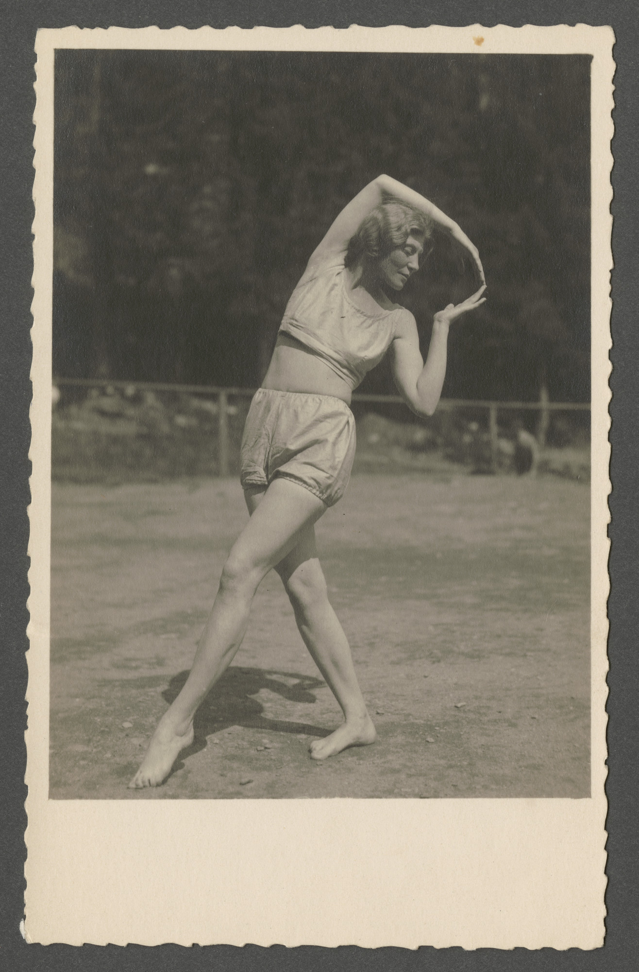 Louise Goldschmied, a student of interpretive dance, strikes a pose.