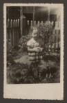 Minna Katz stands in her garden in prewar Lithuania.
